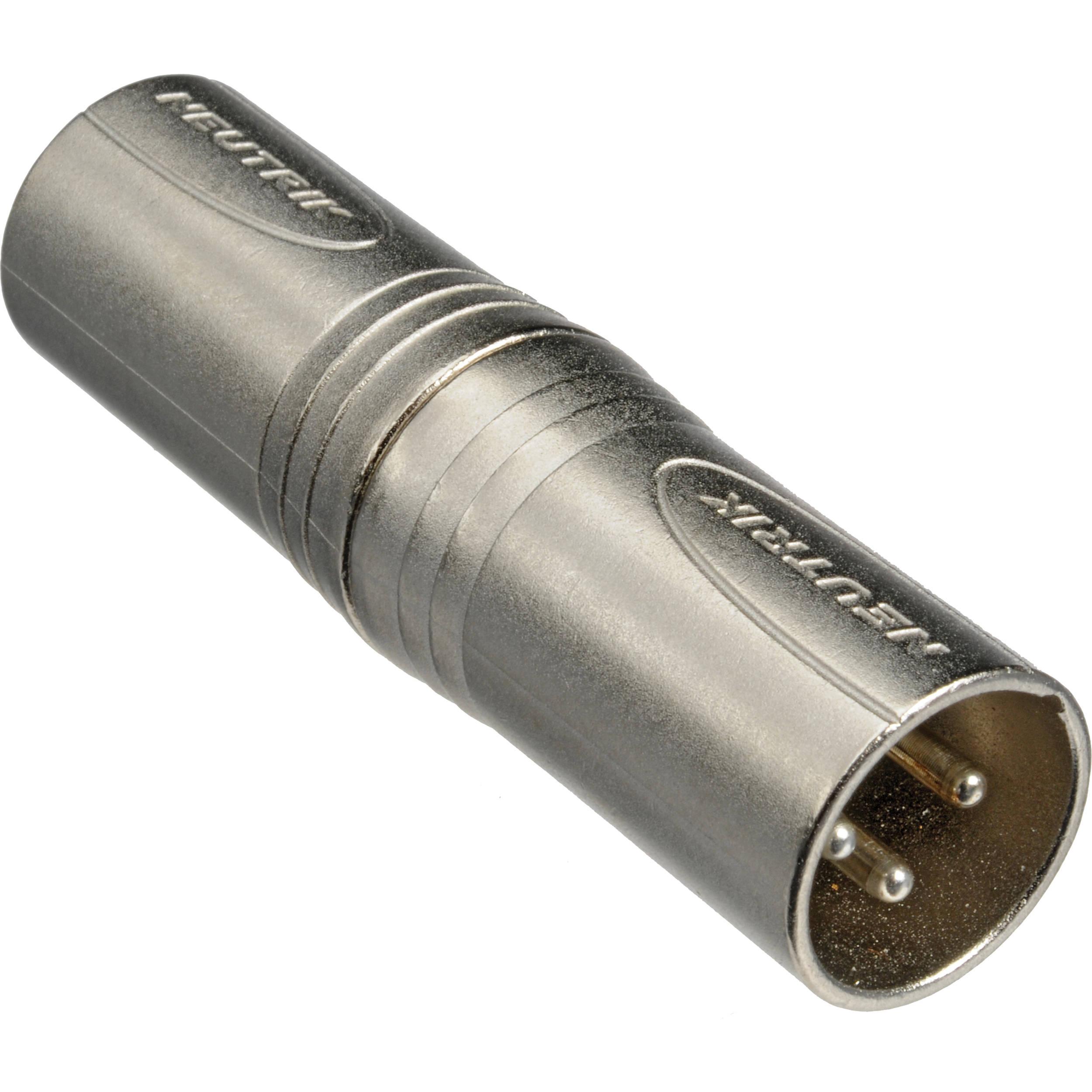 Neutrik Xlr Male To Xlr Male Adapter Na3mm B U0026h Photo Video