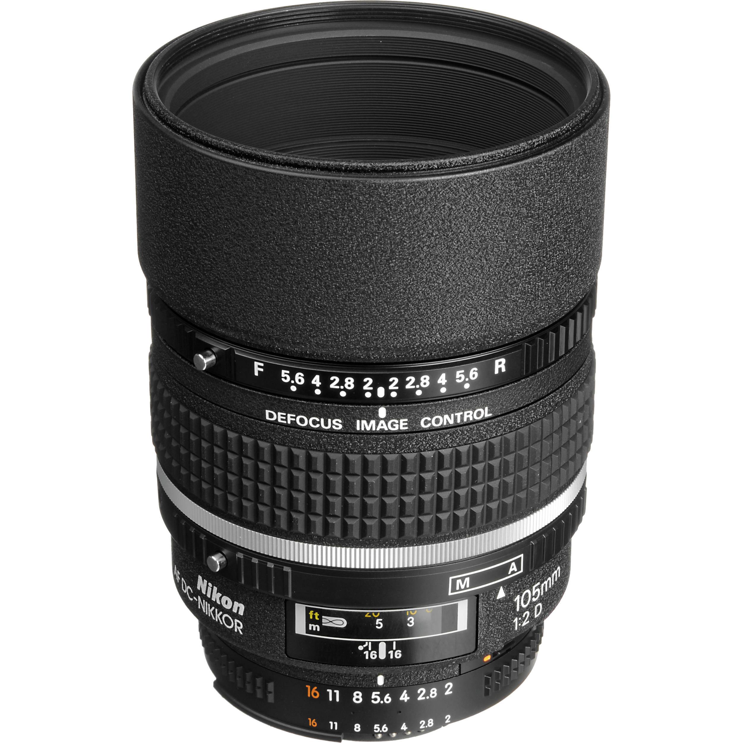Nikon AF DC NIKKOR 105mm f 2D Lens
