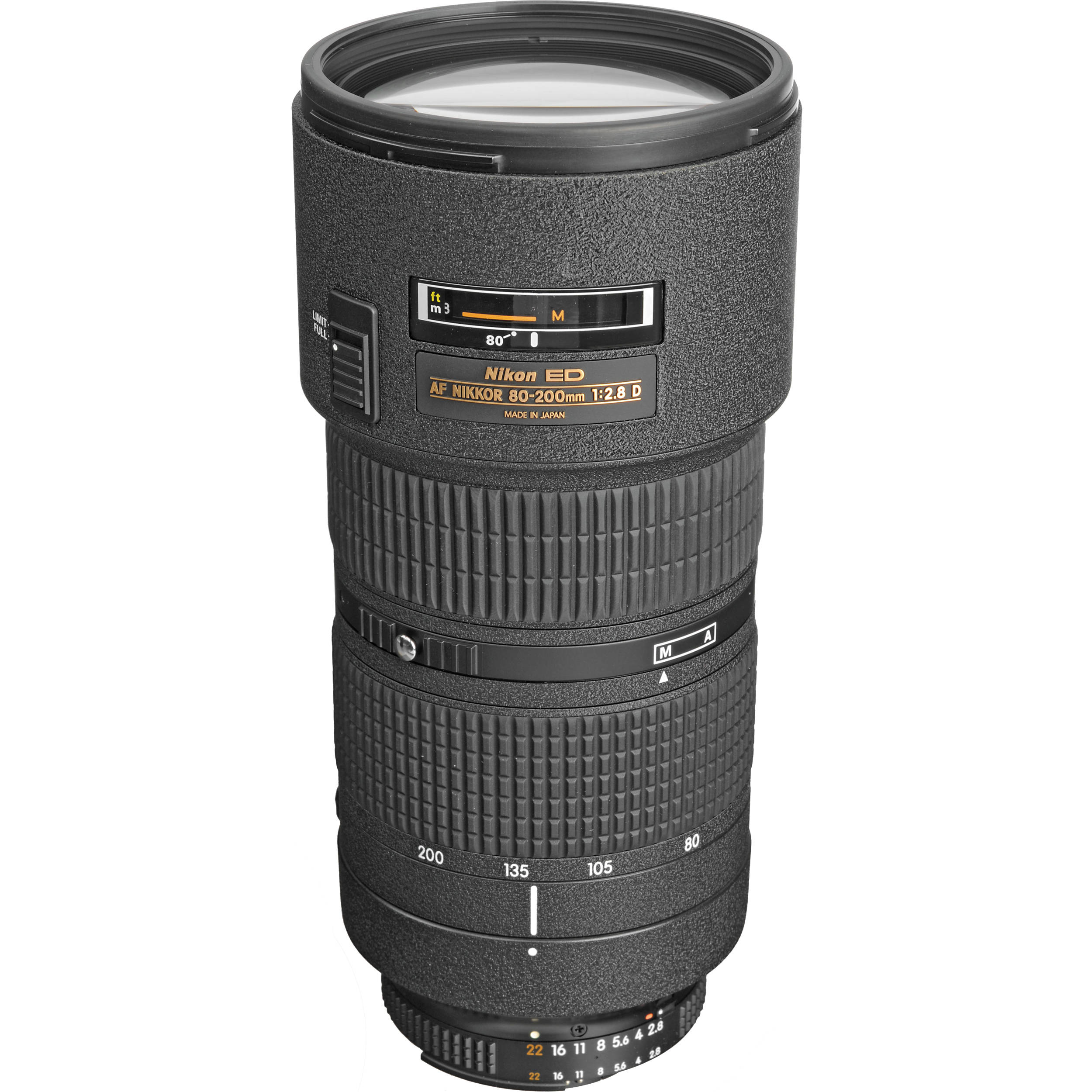 nikon af zoom nikkor 80 200mm f 2 8d ed lens 1986 b h photo. Black Bedroom Furniture Sets. Home Design Ideas