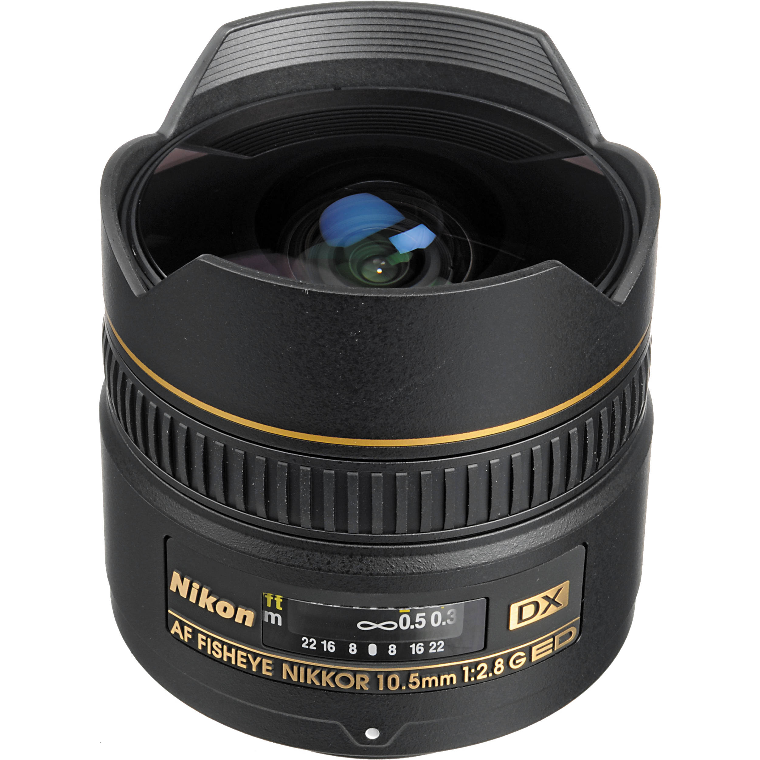 nikon af dx fisheye nikkor 10 5mm f 2 8g ed lens 2148 b h