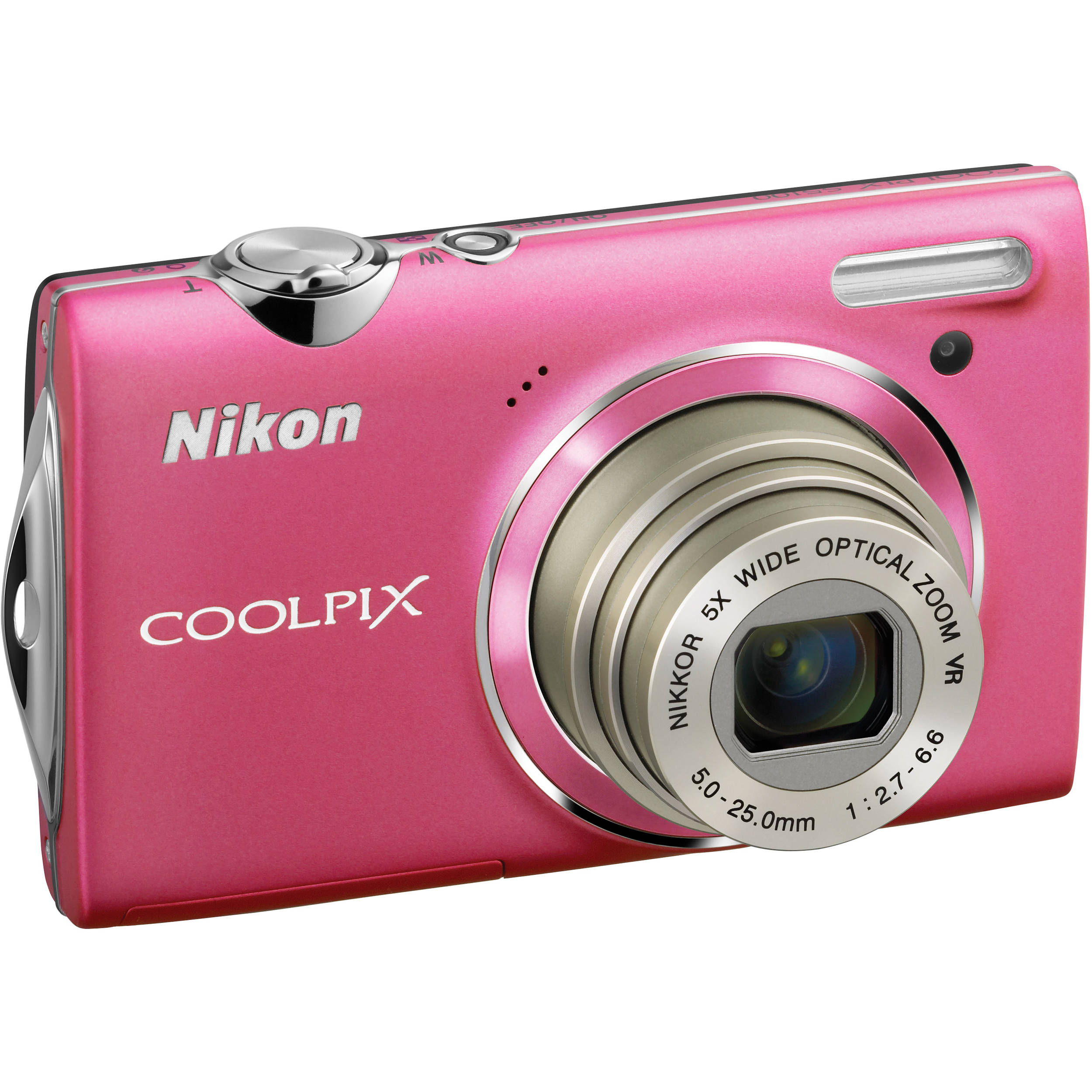 Nikon CoolPix S5100 Compact Digital Camera (Pink) 26223 B&H