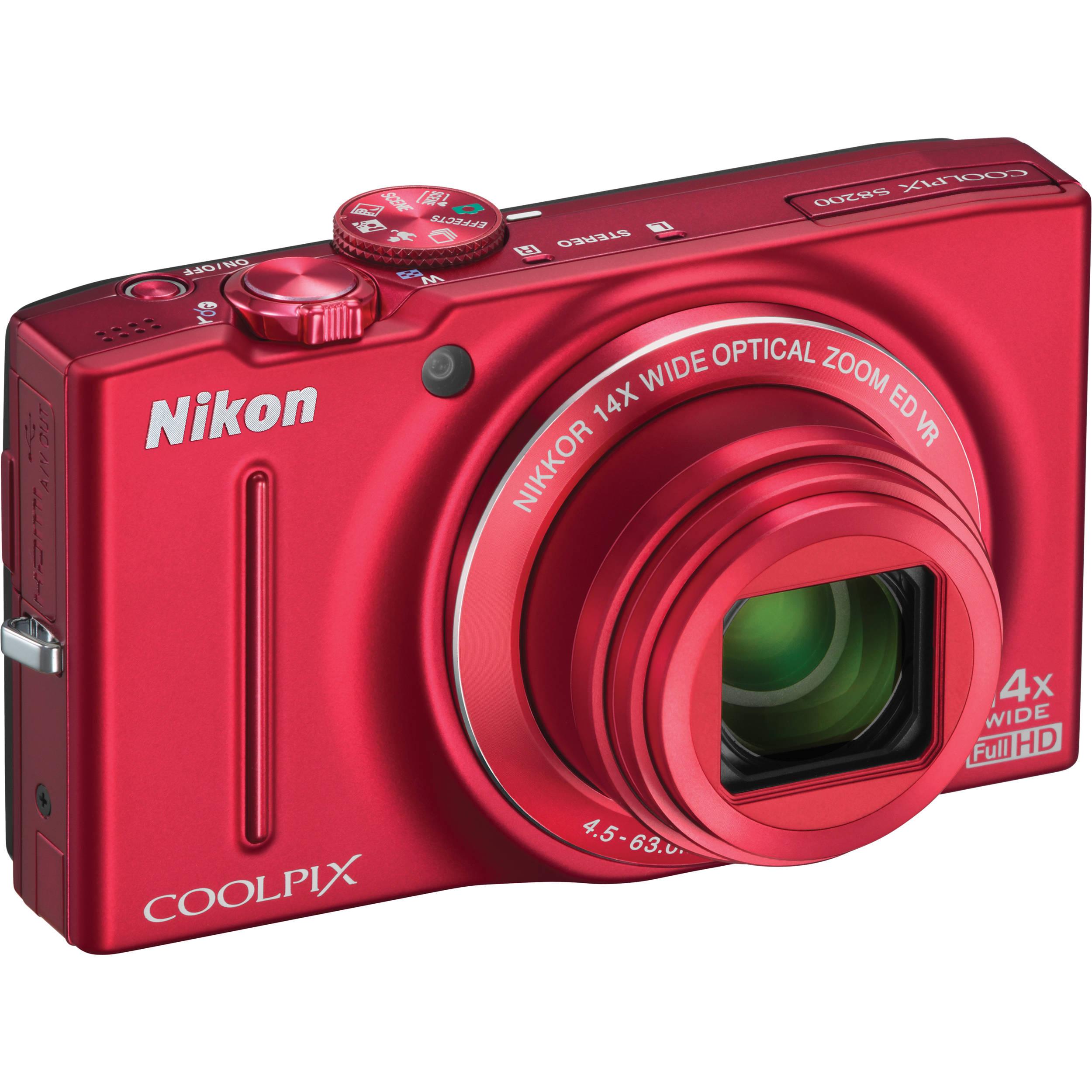 used nikon coolpix s8200 digital camera red 26289b b h photo rh bhphotovideo com nikon coolpix s8200 user manual nikon coolpix s8200 user manual pdf