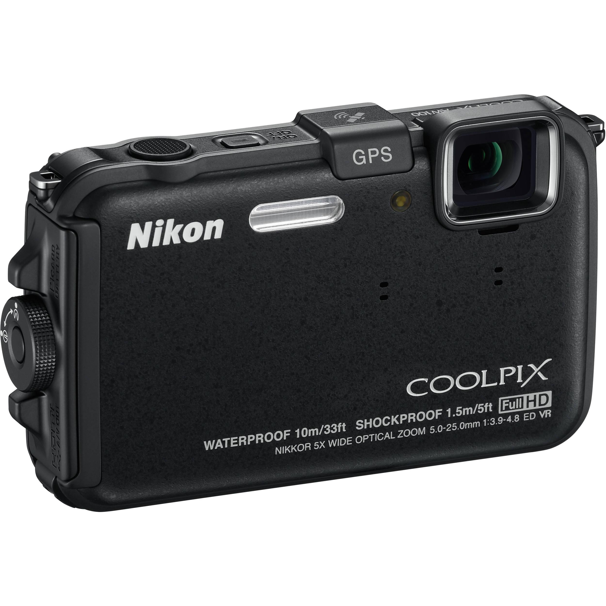 nikon coolpix aw100 waterproof digital camera black 26290 b h rh bhphotovideo com Nikon Coolpix Aw130 nikon coolpix aw100 user manual