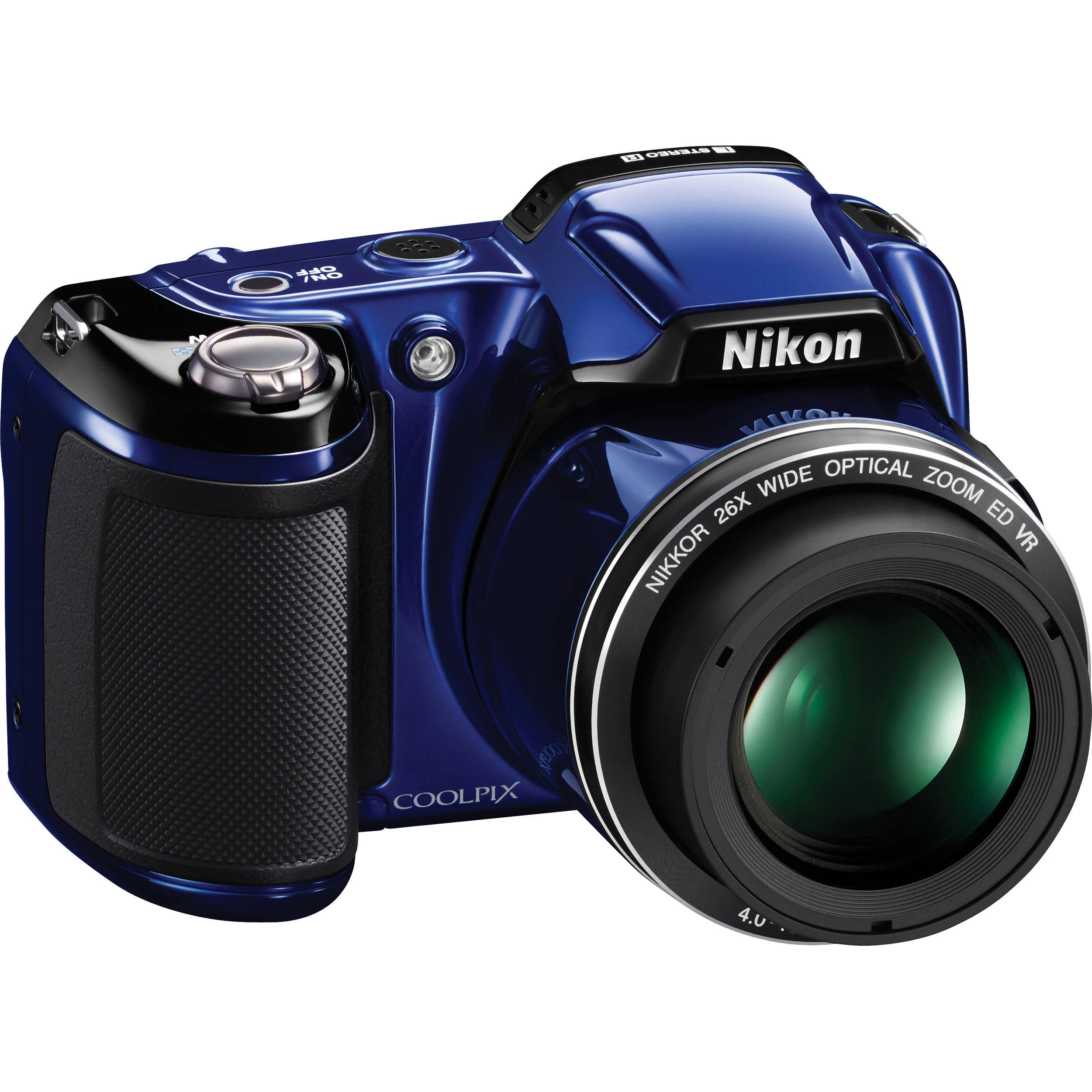 Nikon Coolpix L810 Digital Camera Blue 26296 B Amp H Photo Video