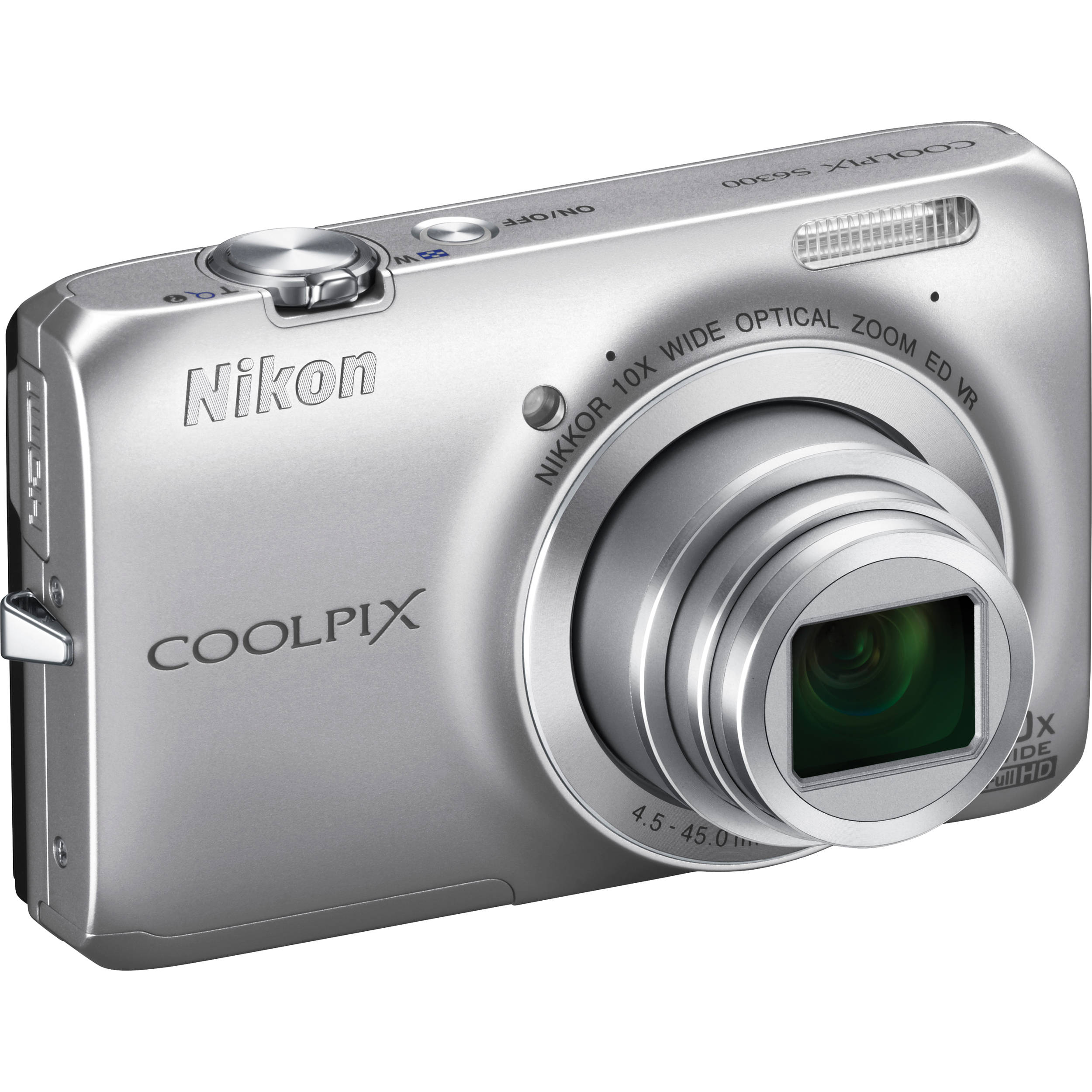 nikon coolpix s6300 digital camera silver 26300 b h photo rh bhphotovideo com Nikon Coolpix L20 Nikon Coolpix L20