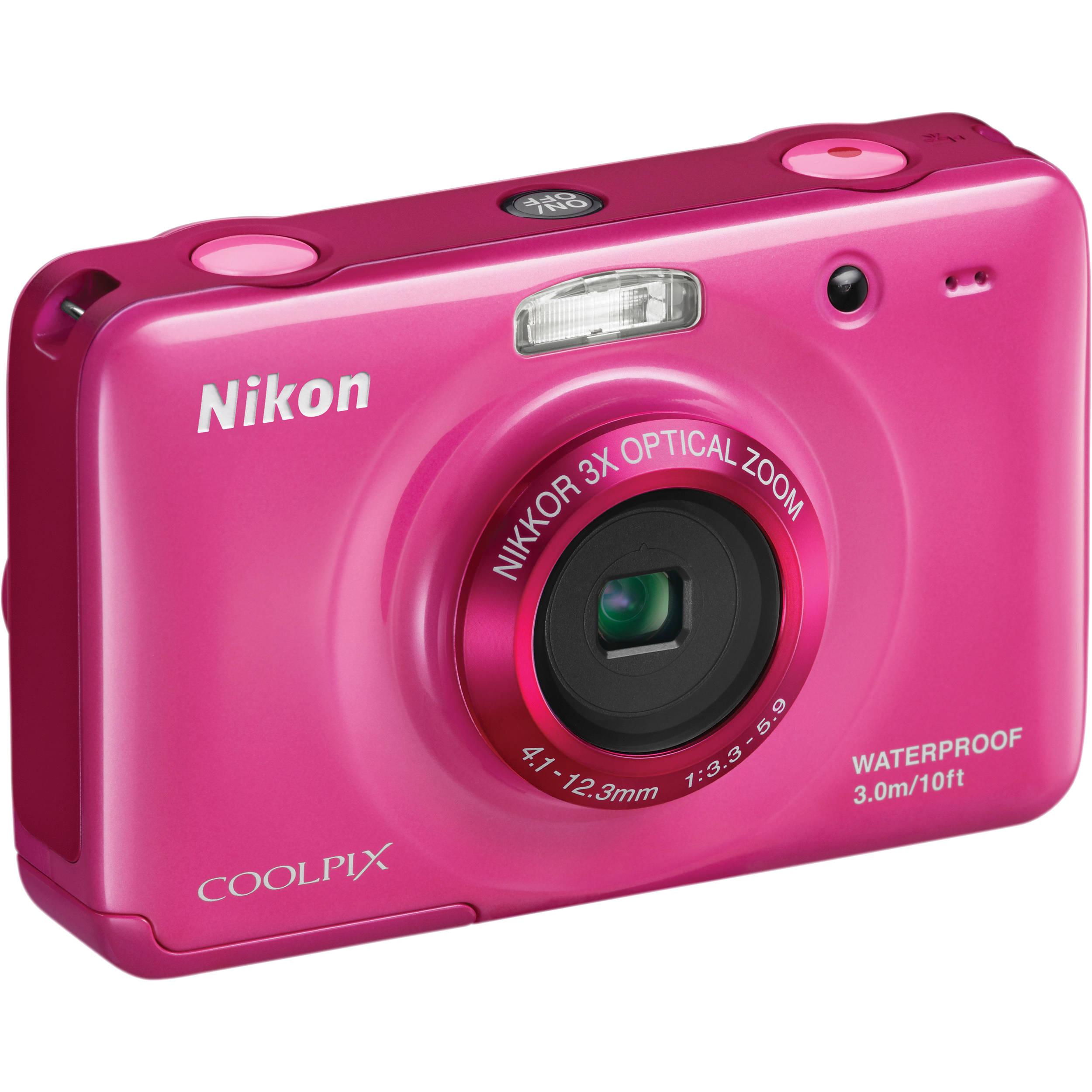 Nikon Coolpix S30 Digital Camera (Pink) 26318 B&H Photo Video