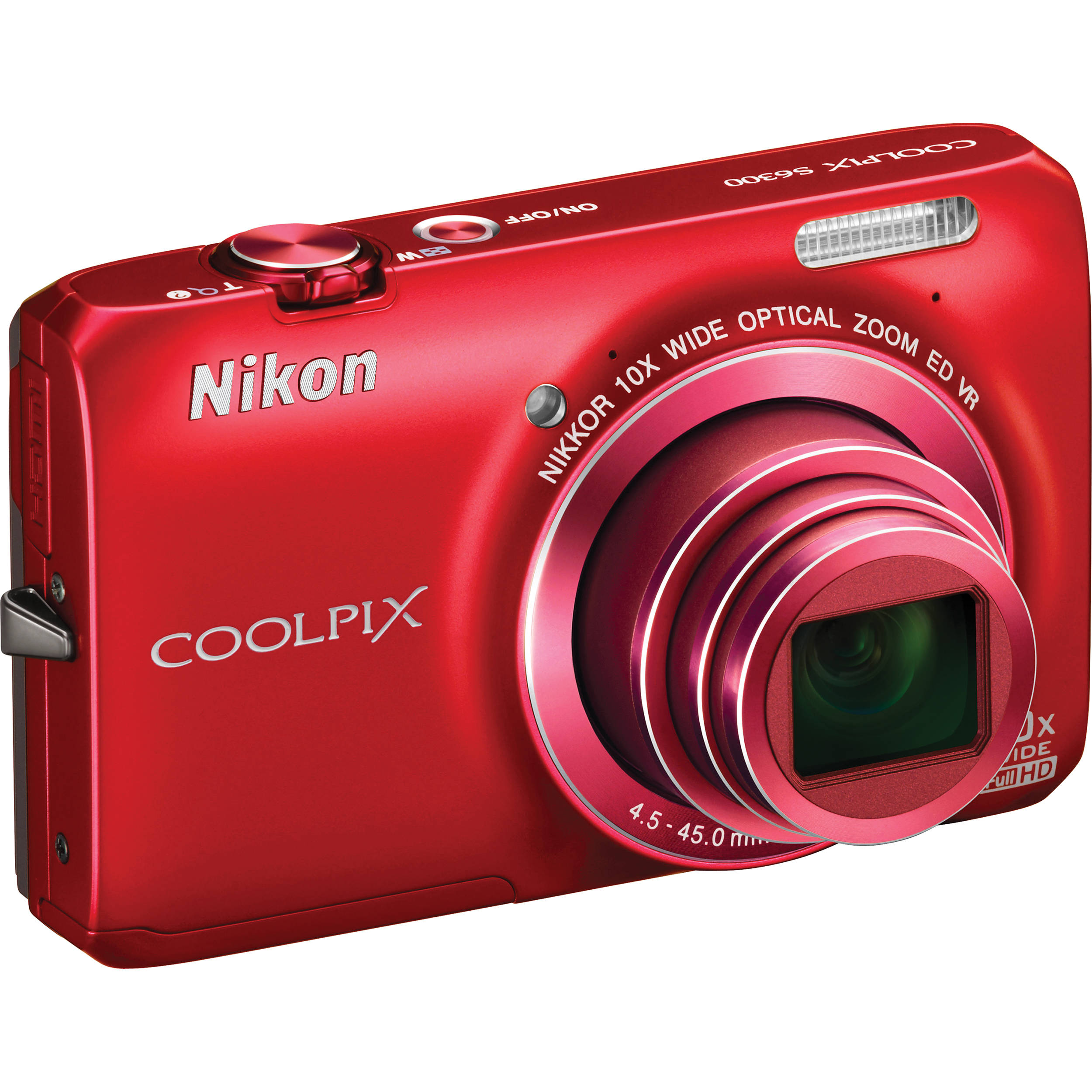 nikon coolpix s6300 digital camera red 26335 b h photo video rh bhphotovideo com Nikon Coolpix 3100 Digital Camera Nikon Coolpix S3000