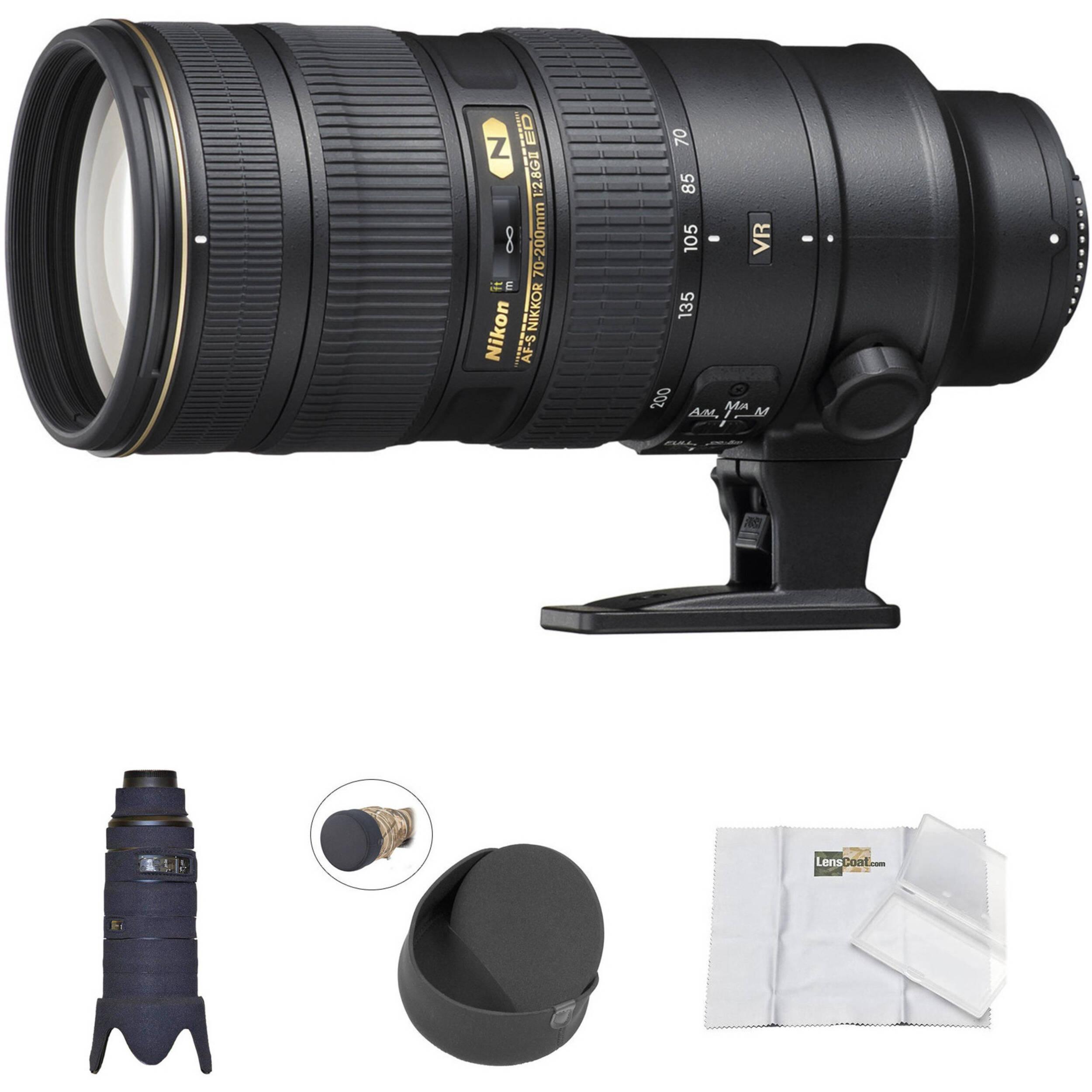 ba6f830f0503a Nikon AF-S 70-200mm f 2.8G ED VR II Lens with Black LensCoat Cover