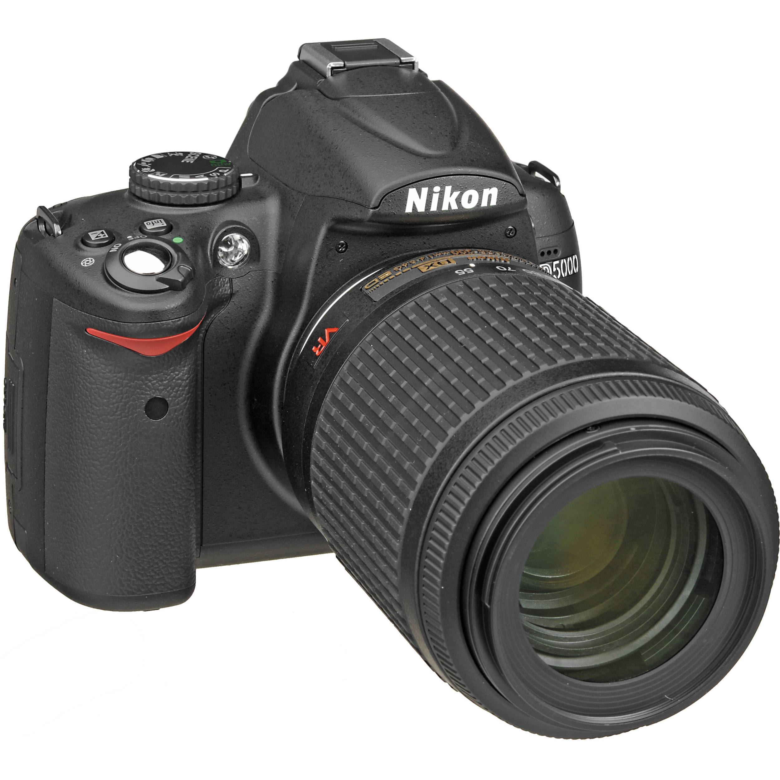 Nikon D5000 Digital SLR Camera with 55-200mm VR f/4-5.6G Lens