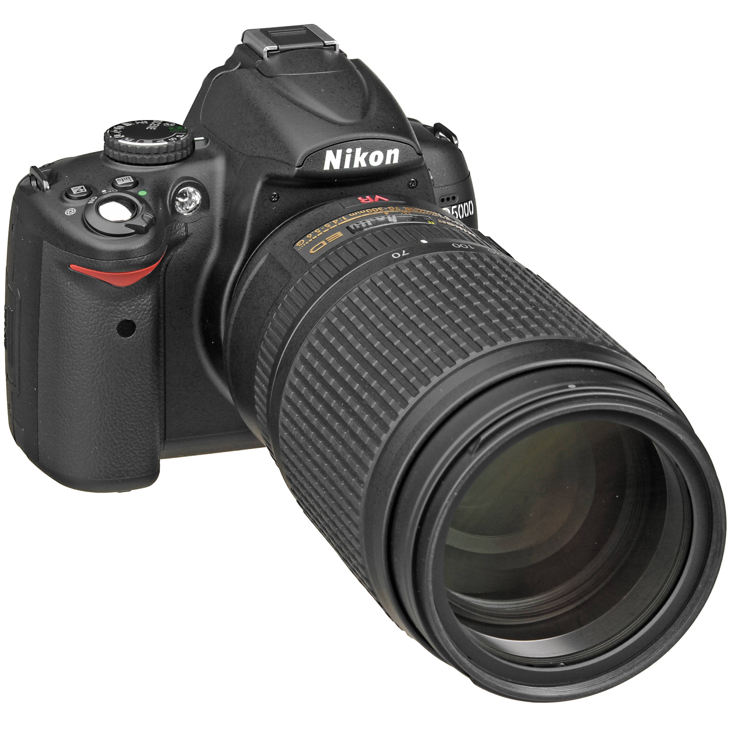 Nikon D5000 Digital SLR Camera with 70-300mm VR f/4-5.6G Lens