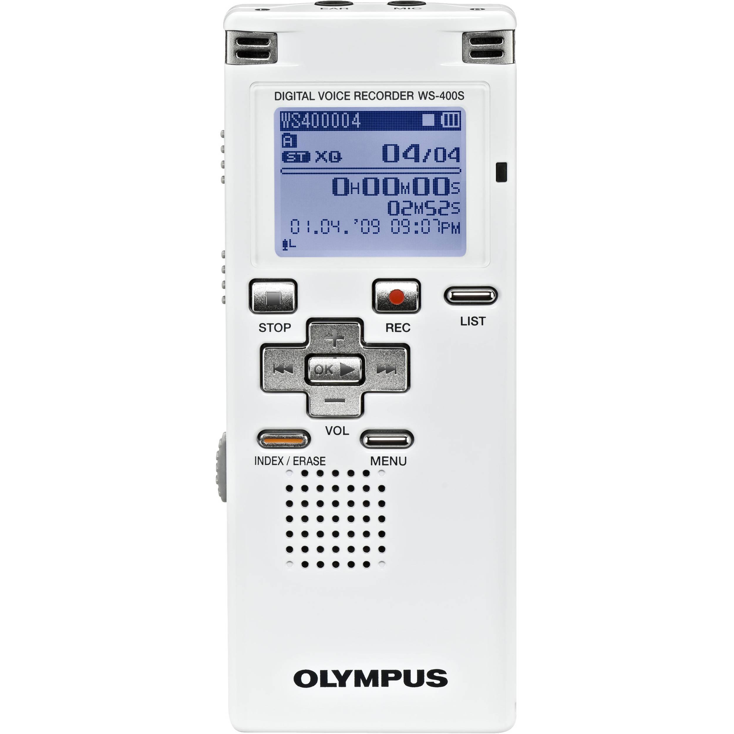 olympus ws 400s digtial voice recorder 142035 b h photo video rh bhphotovideo com Olympus Voice Recorder eHow Olympus Voice Recorder eHow