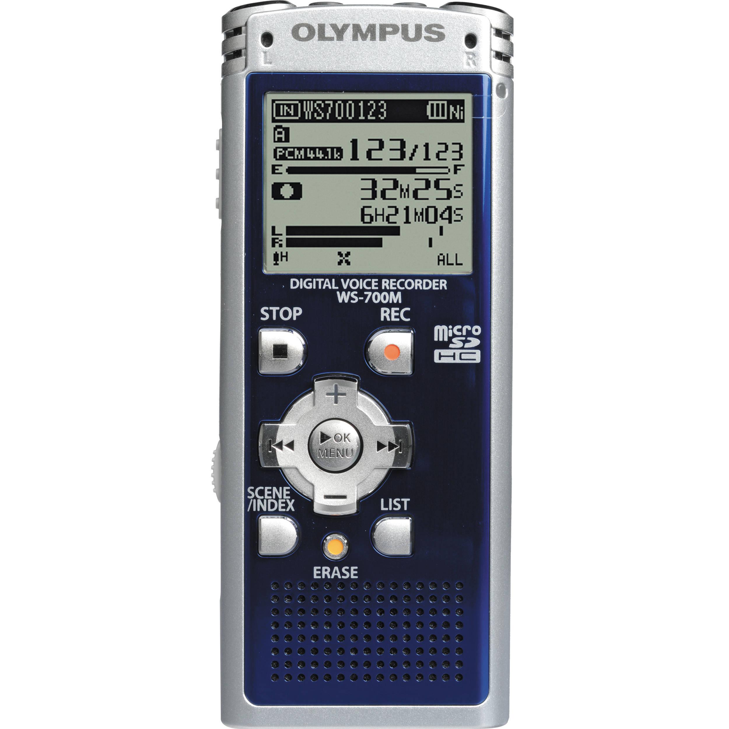 olympus ws 700m digital voice recorder blue 142625 b h photo rh bhphotovideo com Olympus VN-702PC Voice Recorder Olympus Voice Recorder VN-7200