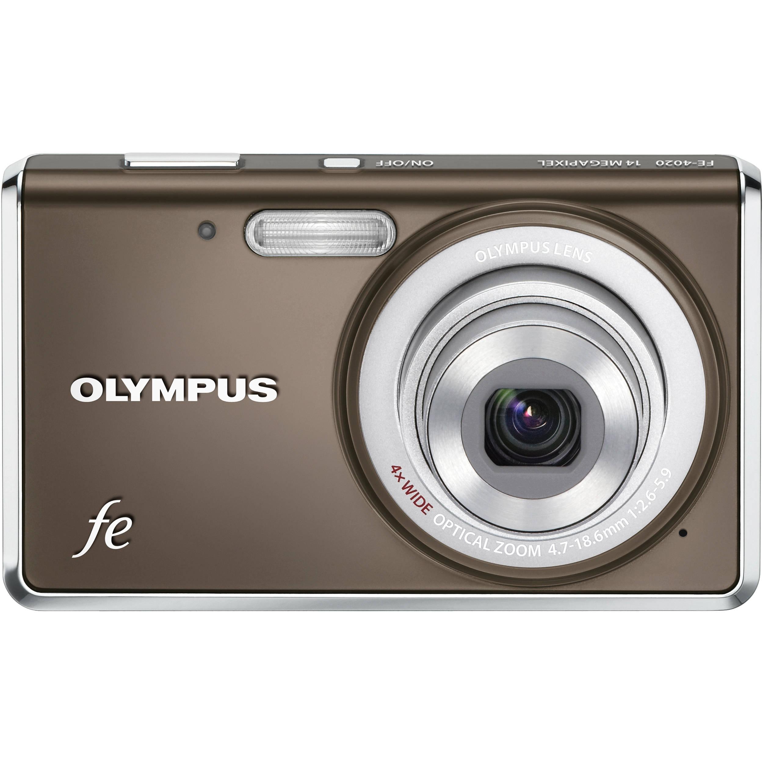 Olympus Digital Camera: Olympus FE-4020 Digital Camera (Warm Gray) 227500 B&H Photo