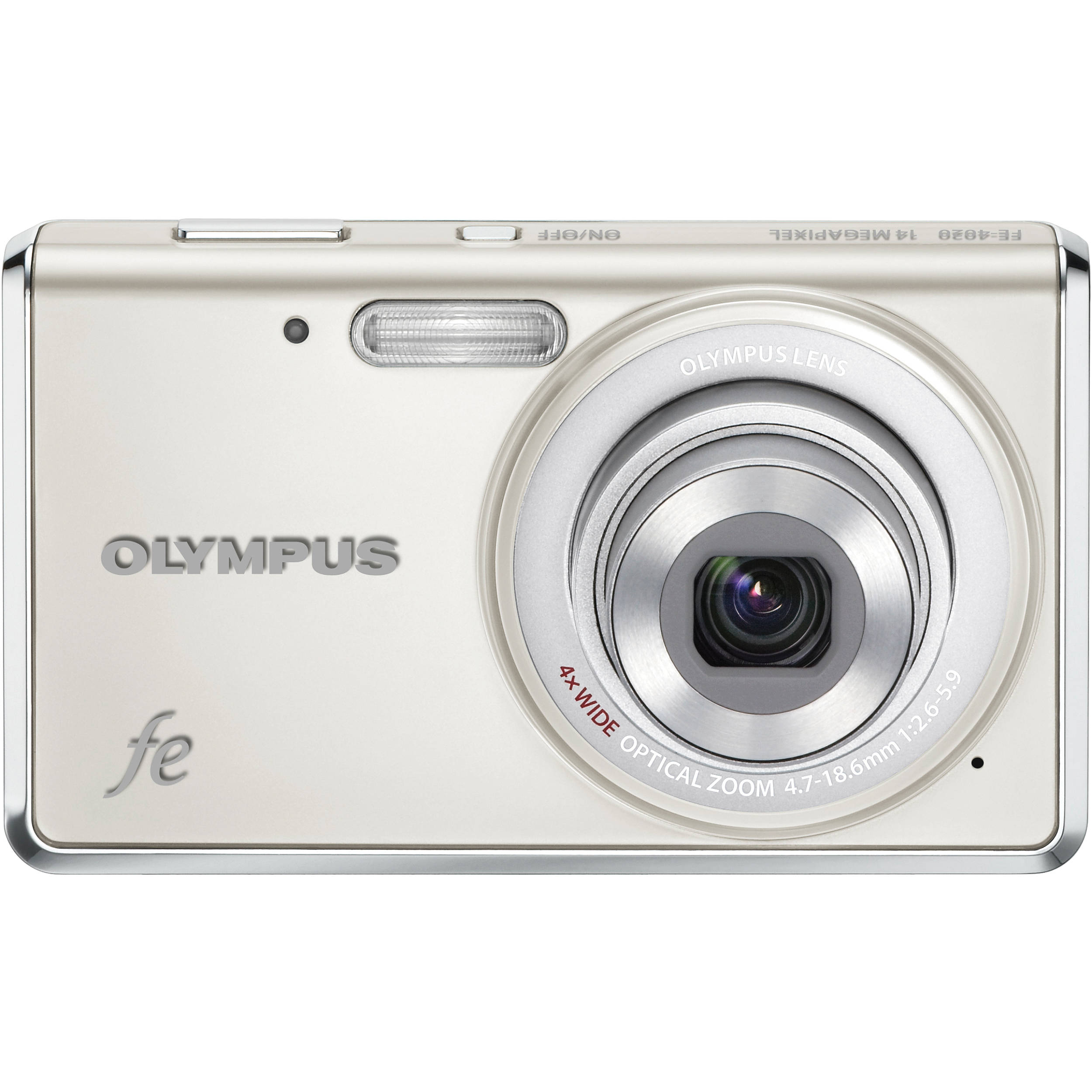 olympus fe 4020 digital camera pearl white 227505 b h photo rh bhphotovideo com Olympus Fe Camera Charger Olympus Fe 4020 Battery Charger
