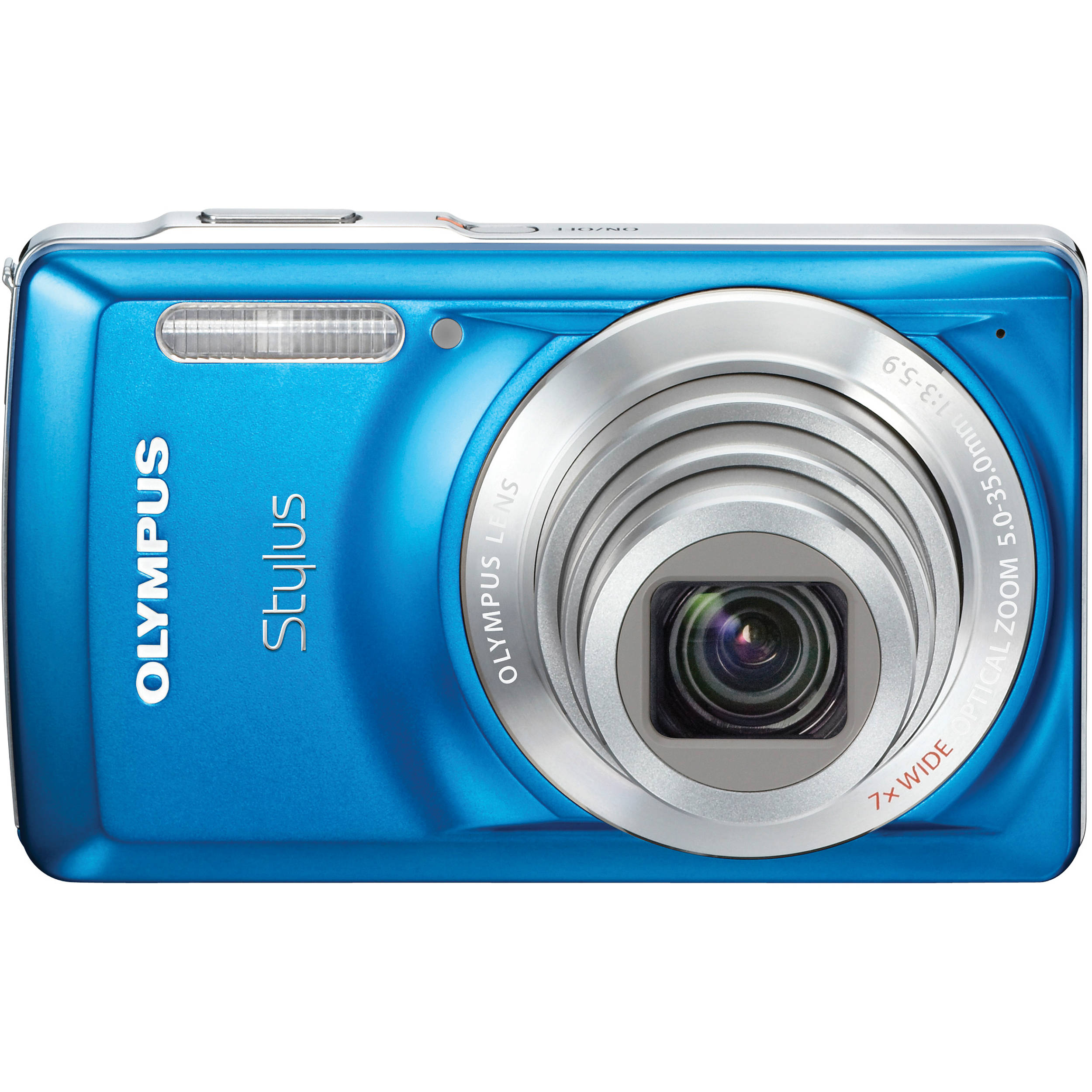 Olympus Digital Camera: Olympus Stylus 7030 Digital Camera (Blue) 227575 B&H Photo