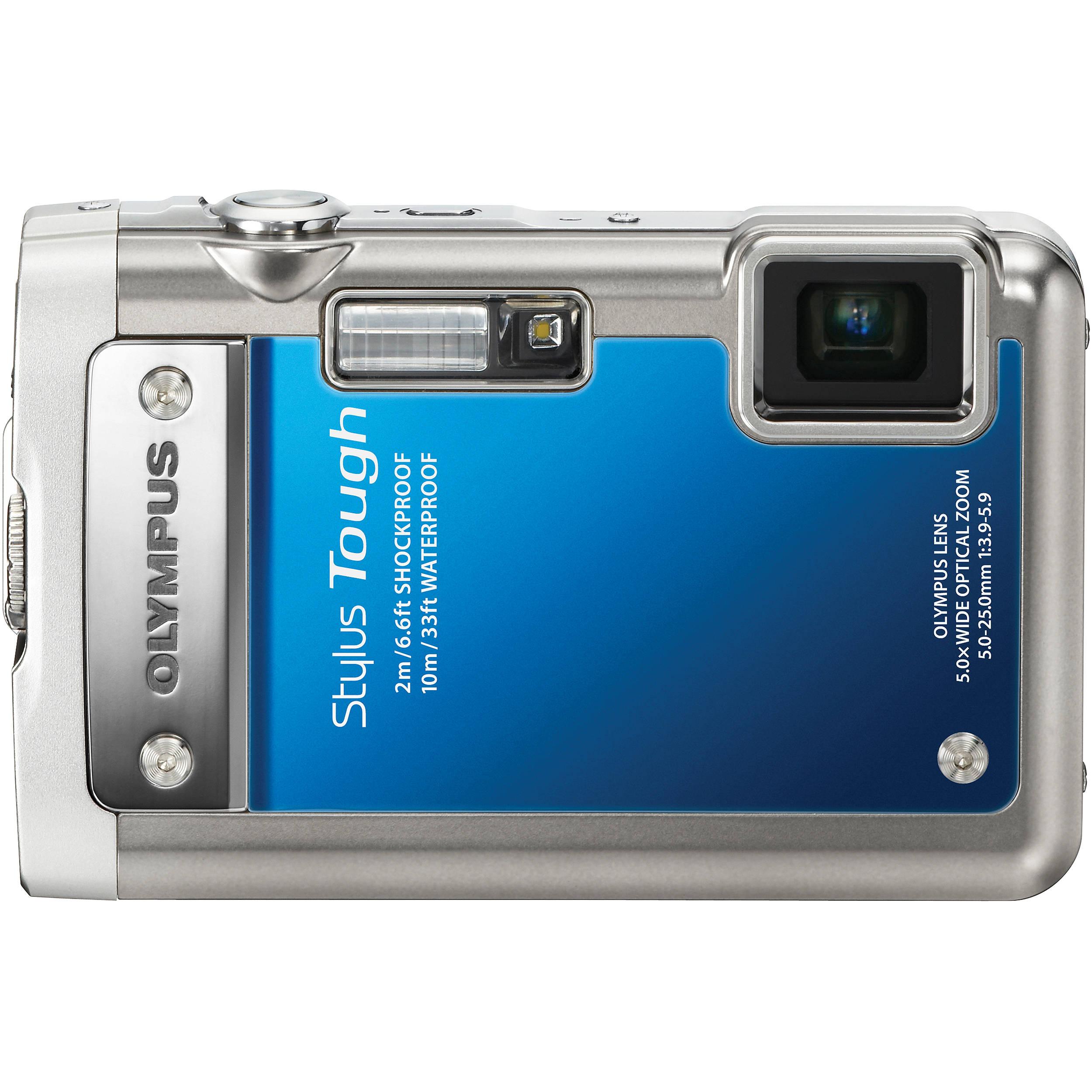 Olympus Digital Camera: Olympus Stylus Tough 8010 Digital Camera (Blue) 227780 B&H