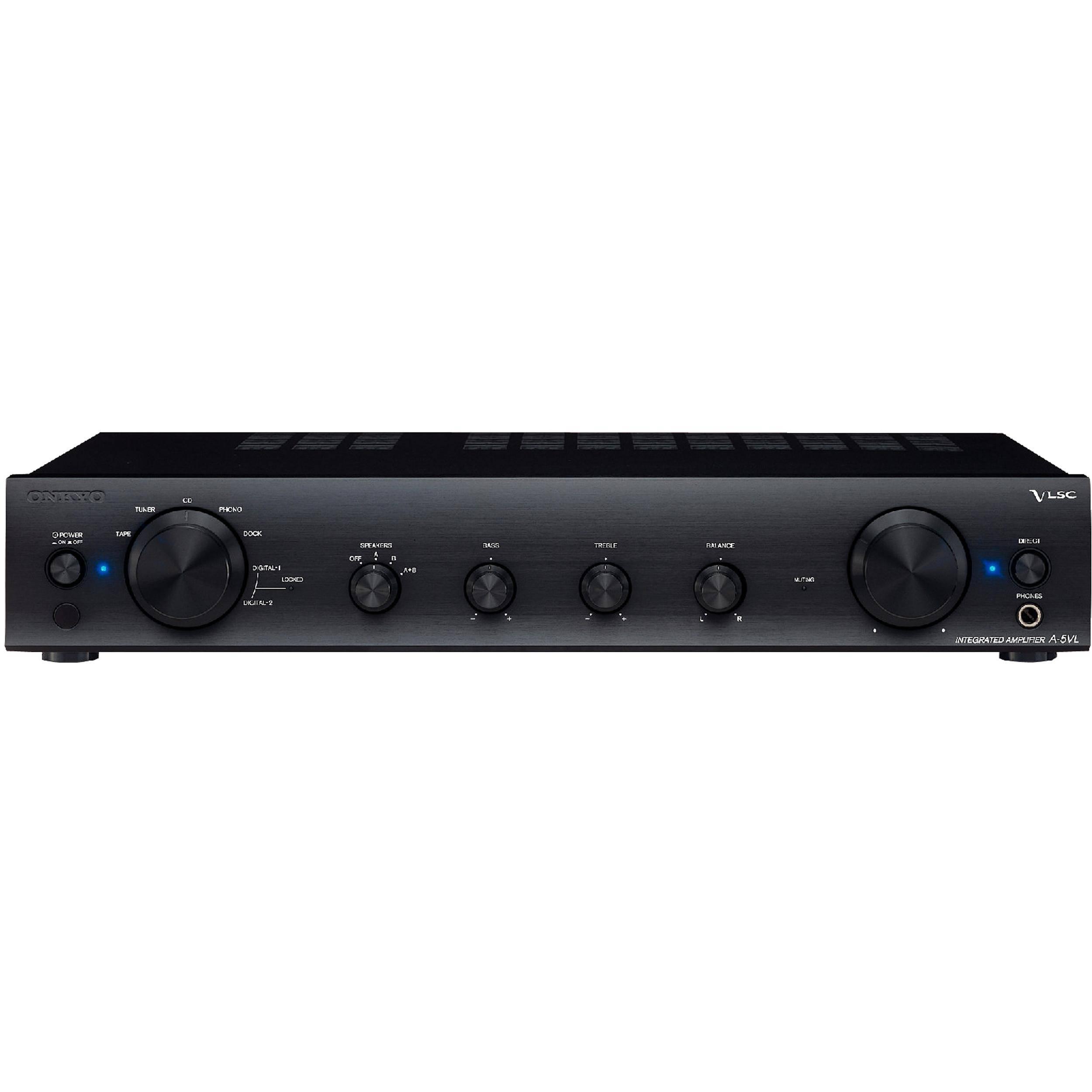 onkyo integrated amplifier. onkyo a-5vl integrated amplifier (black)