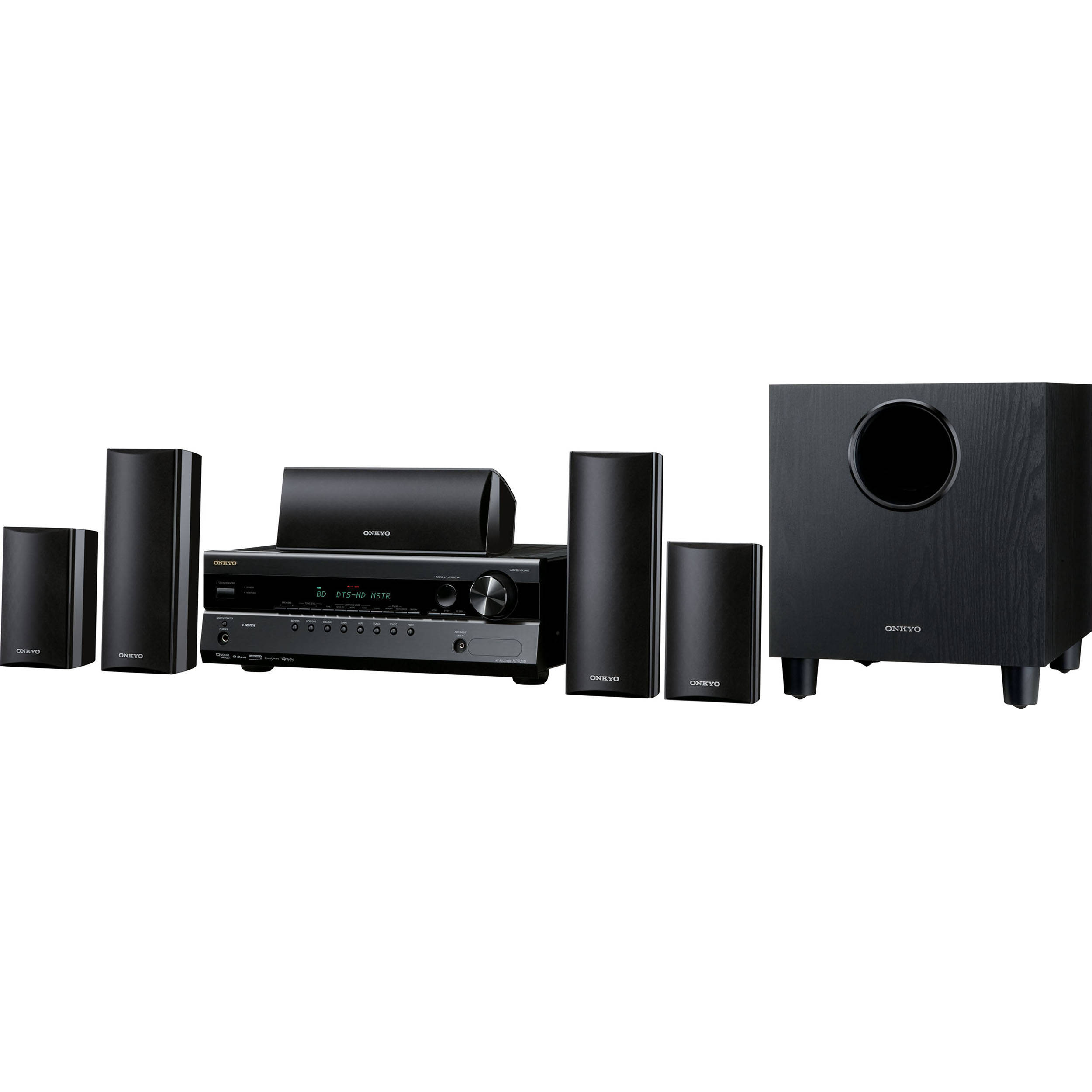onkyo ht s3300 5 1 channel home theater system ht s3300 b h. Black Bedroom Furniture Sets. Home Design Ideas