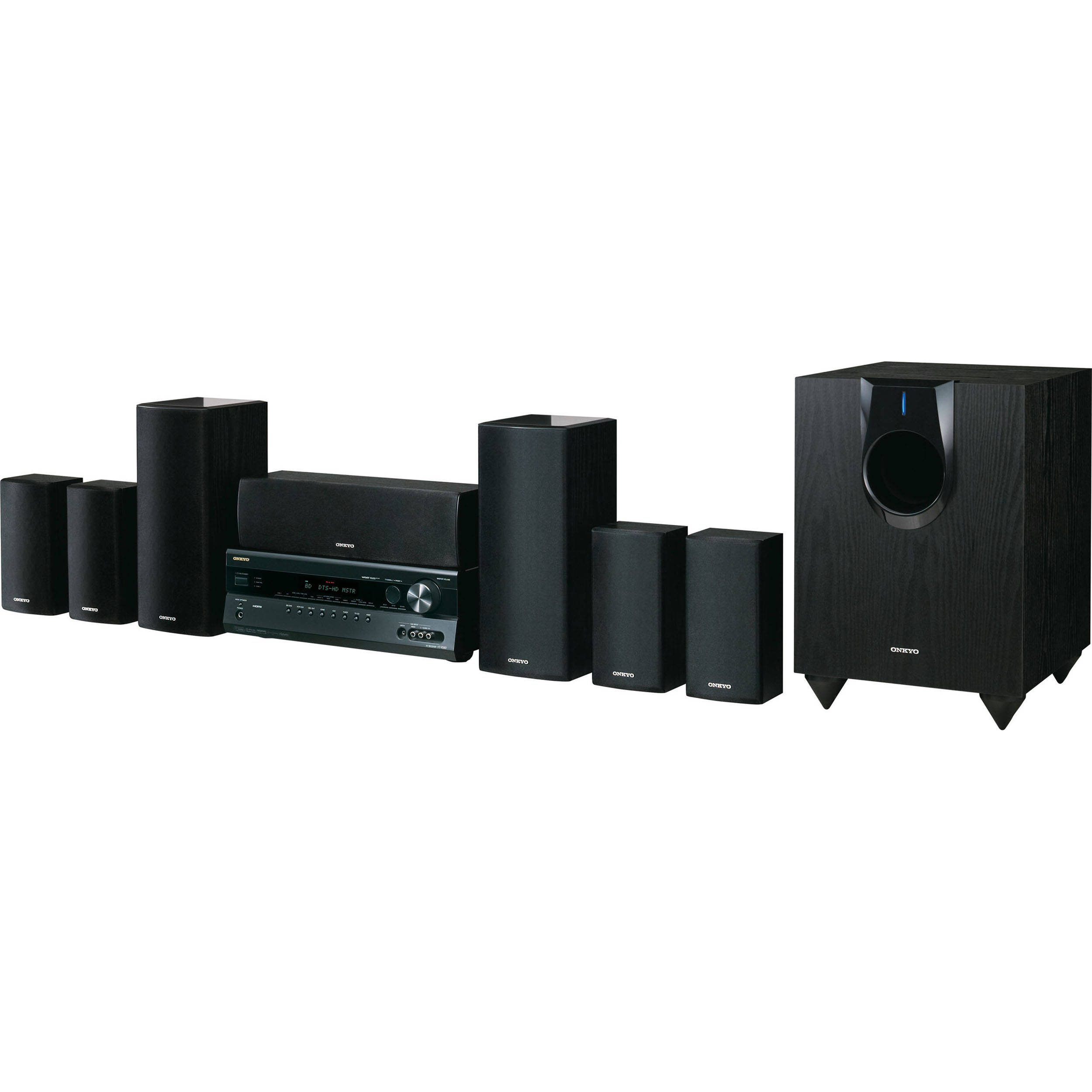 onkyo ht s5300 7 1 channel home theater system ht s5300 b h. Black Bedroom Furniture Sets. Home Design Ideas