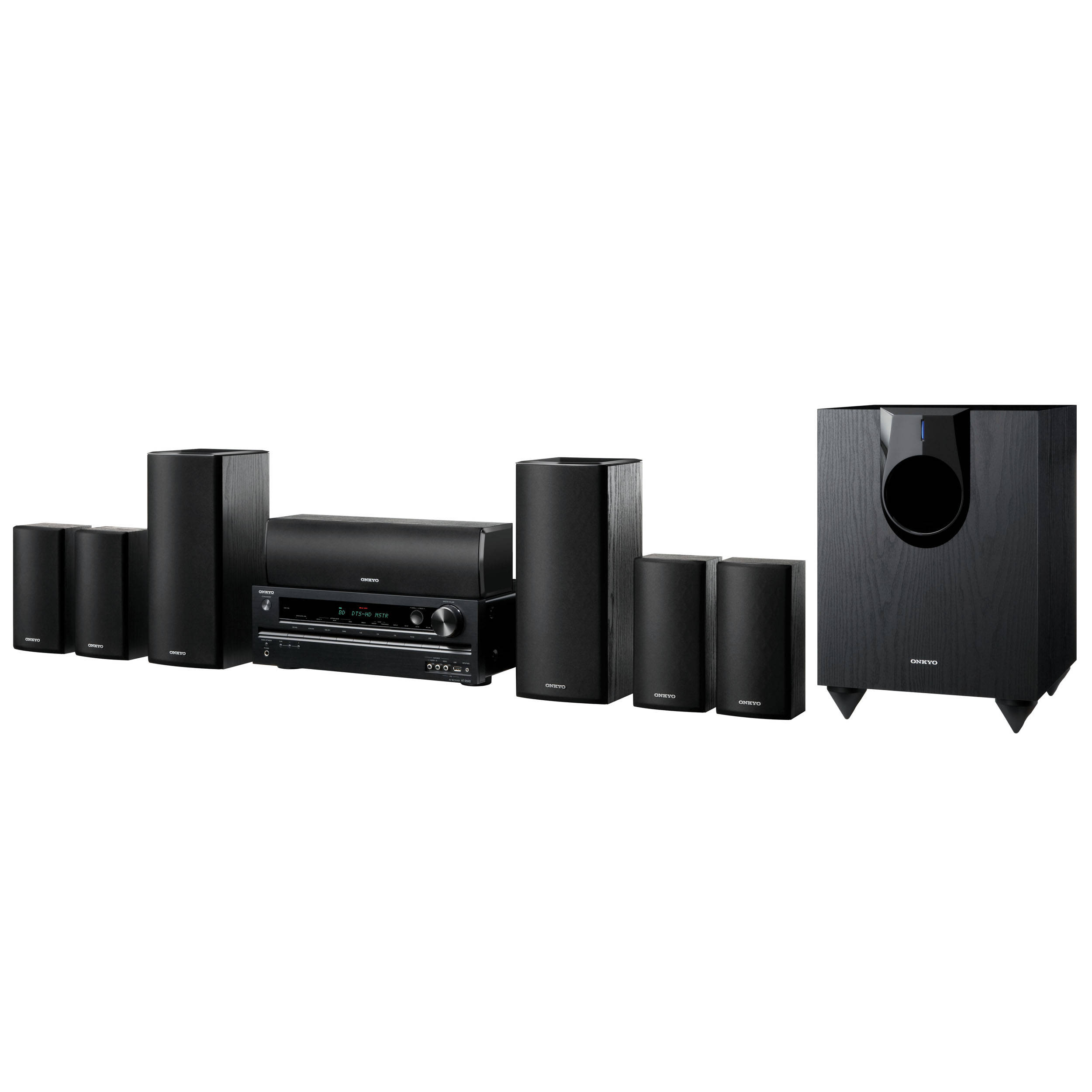 onkyo ht s5400 7 1 home theater system ht s5400 b h photo video. Black Bedroom Furniture Sets. Home Design Ideas