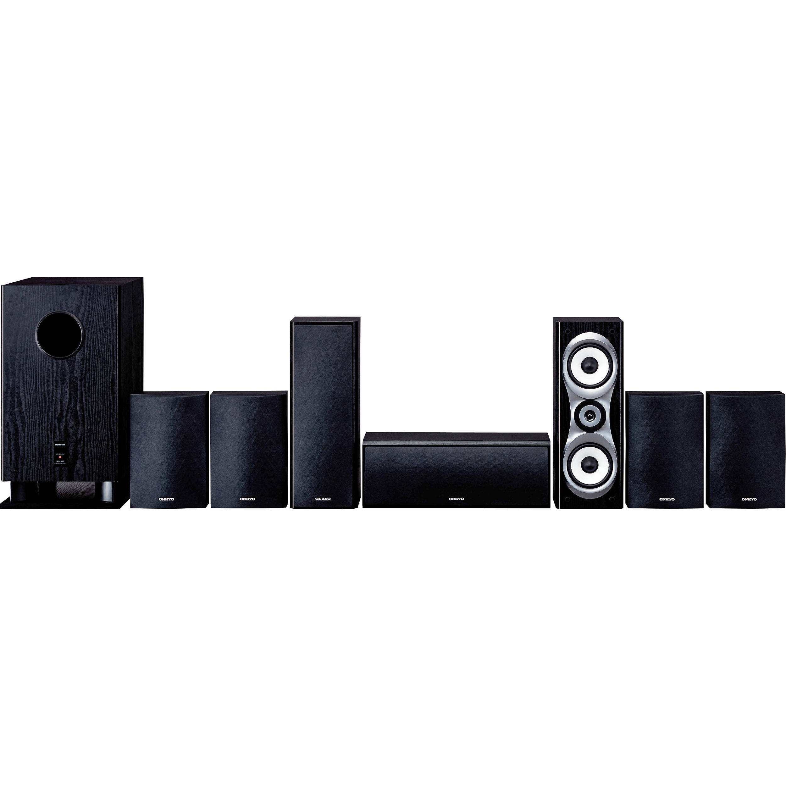 onkyo 7 1 surround sound system. onkyo sks-ht540 7.1 home theater surround sound system (black) 7 1 o