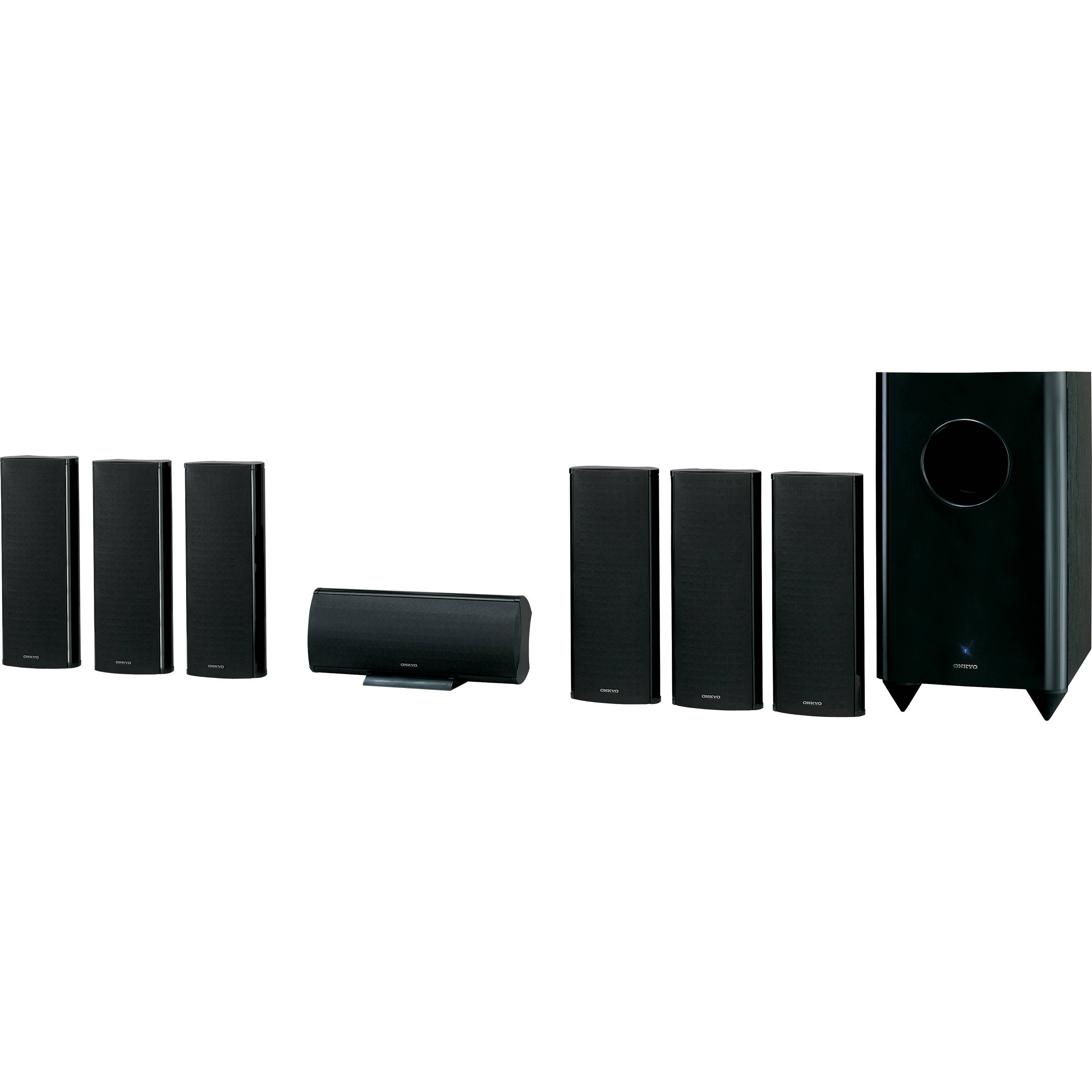 onkyo sks ht750 7 1 channel home theater speaker system. Black Bedroom Furniture Sets. Home Design Ideas