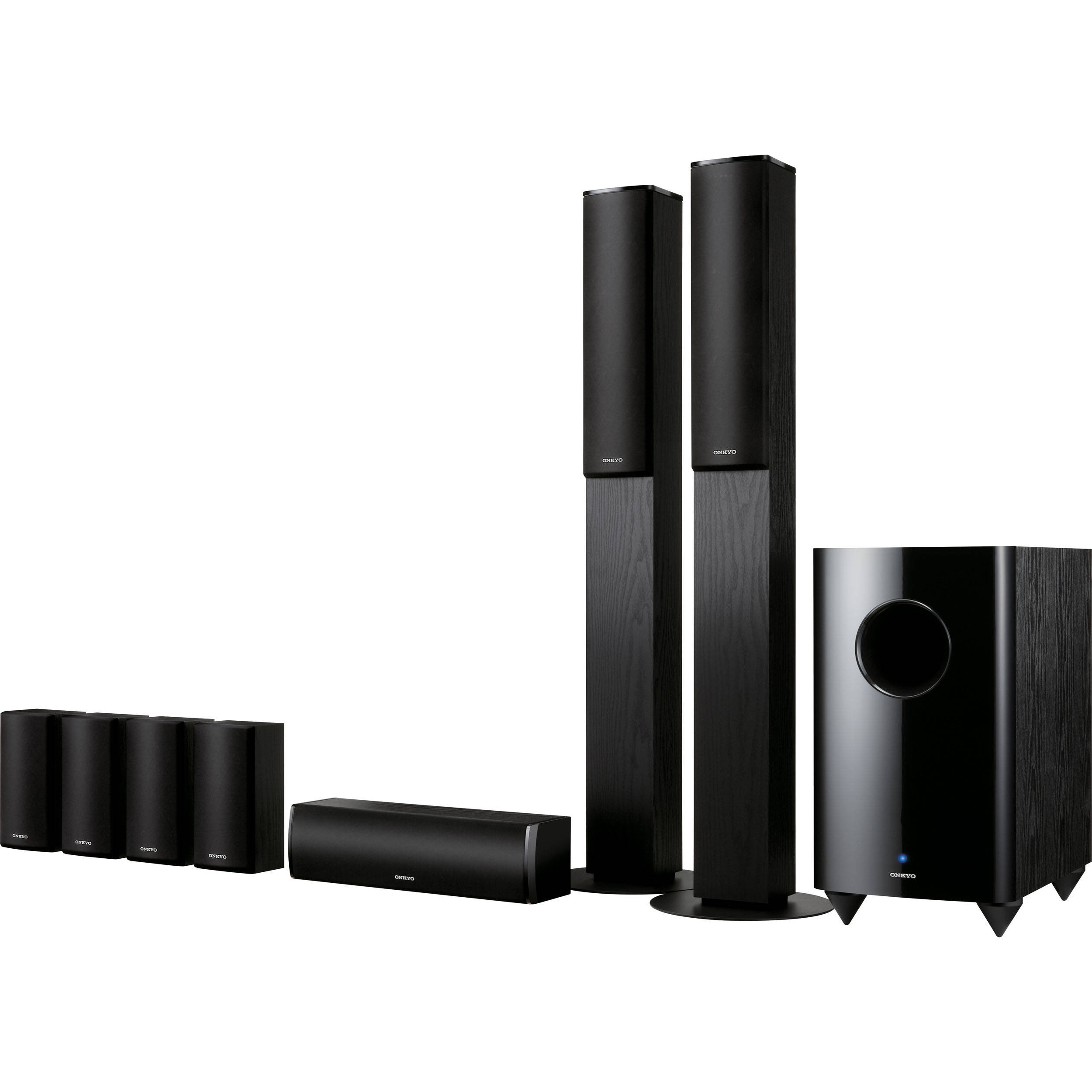 onkyo sks ht870 7 1 channel home theater speaker system. Black Bedroom Furniture Sets. Home Design Ideas
