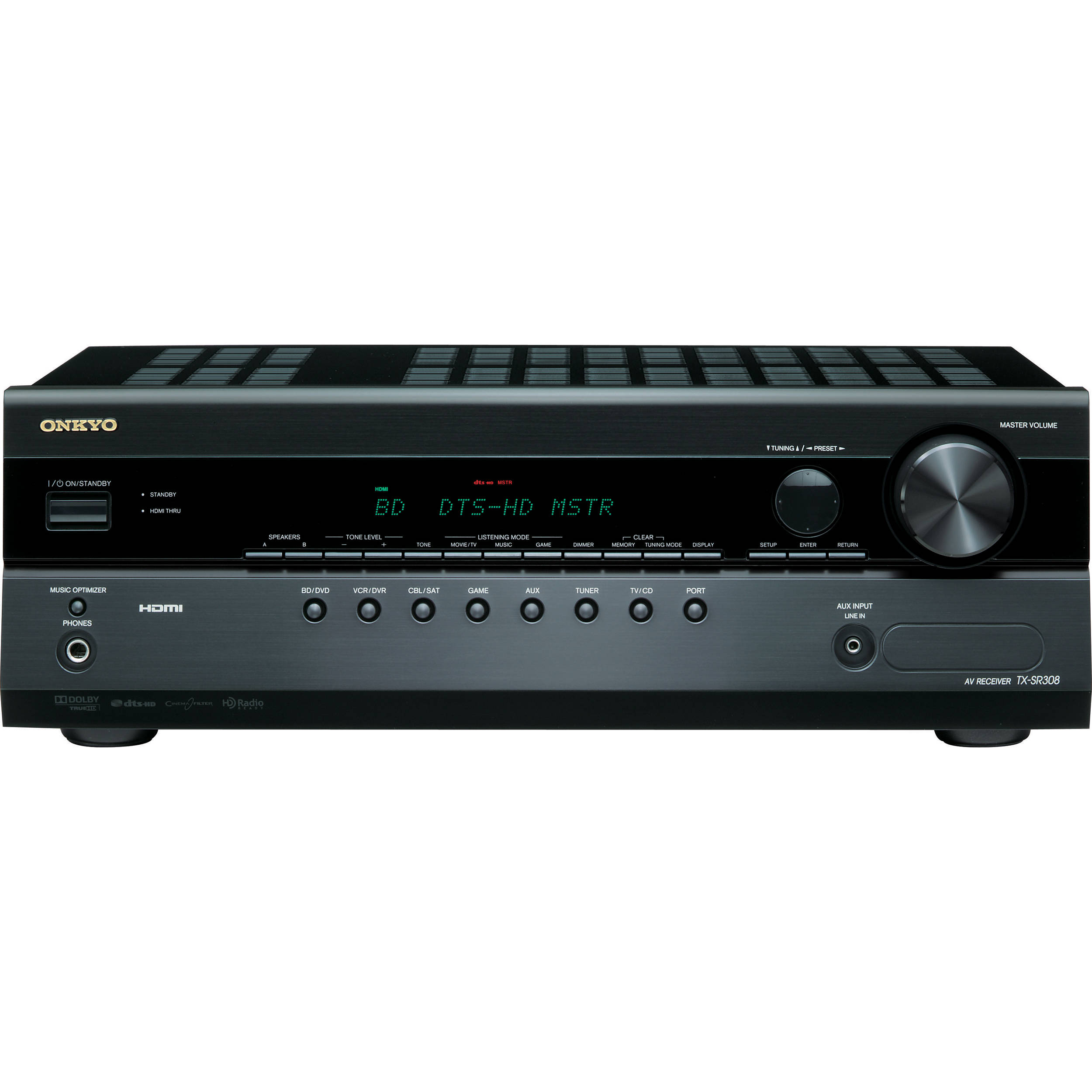 Onkyo TX-SR308 5.1 Channel A/V Home Theater Receiver