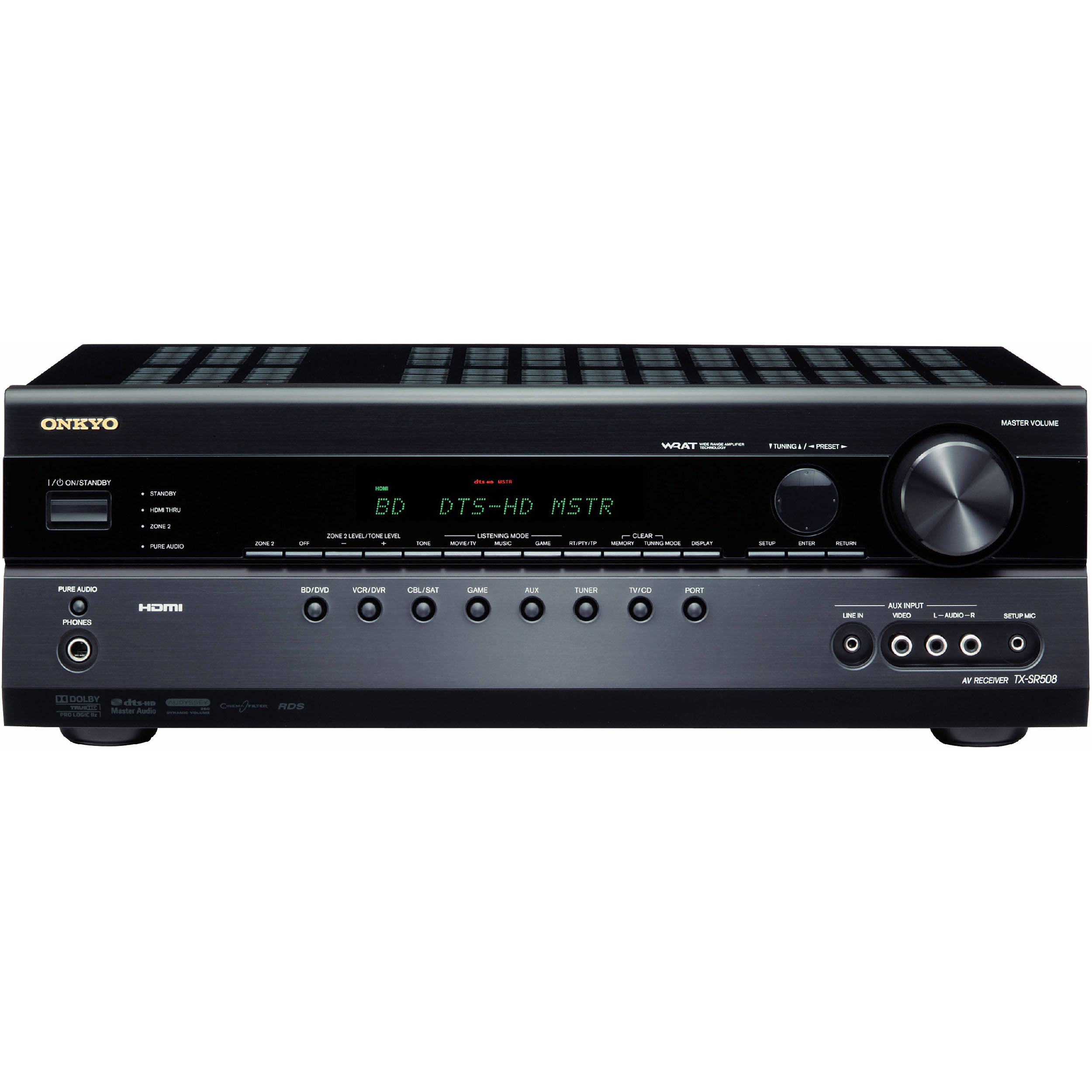 Onkyo Tx Sr508 71 Channel Home Theater Receiver Bh Power Amplifier Compatible With Tv Audio