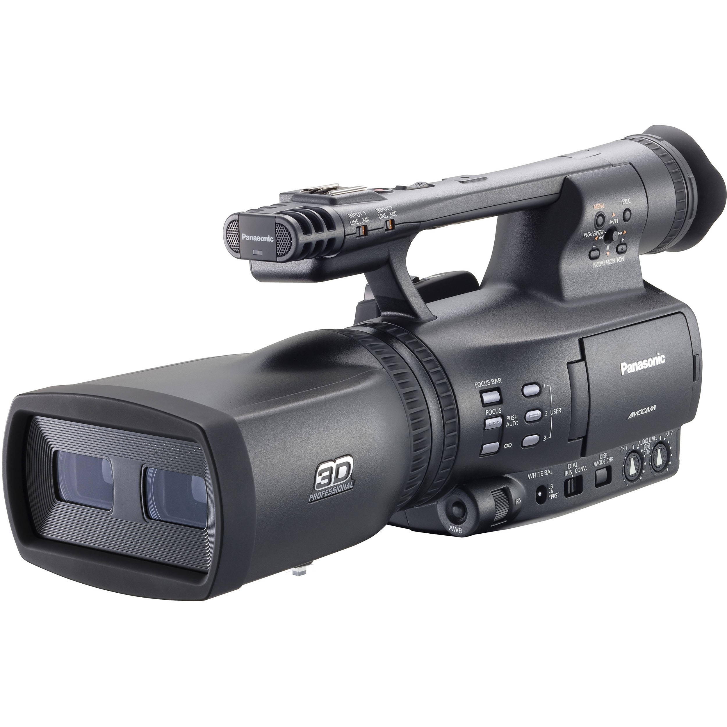 panasonic ag 3da1 integrated twin lens 3d camcorder ag 3da1pj. Black Bedroom Furniture Sets. Home Design Ideas