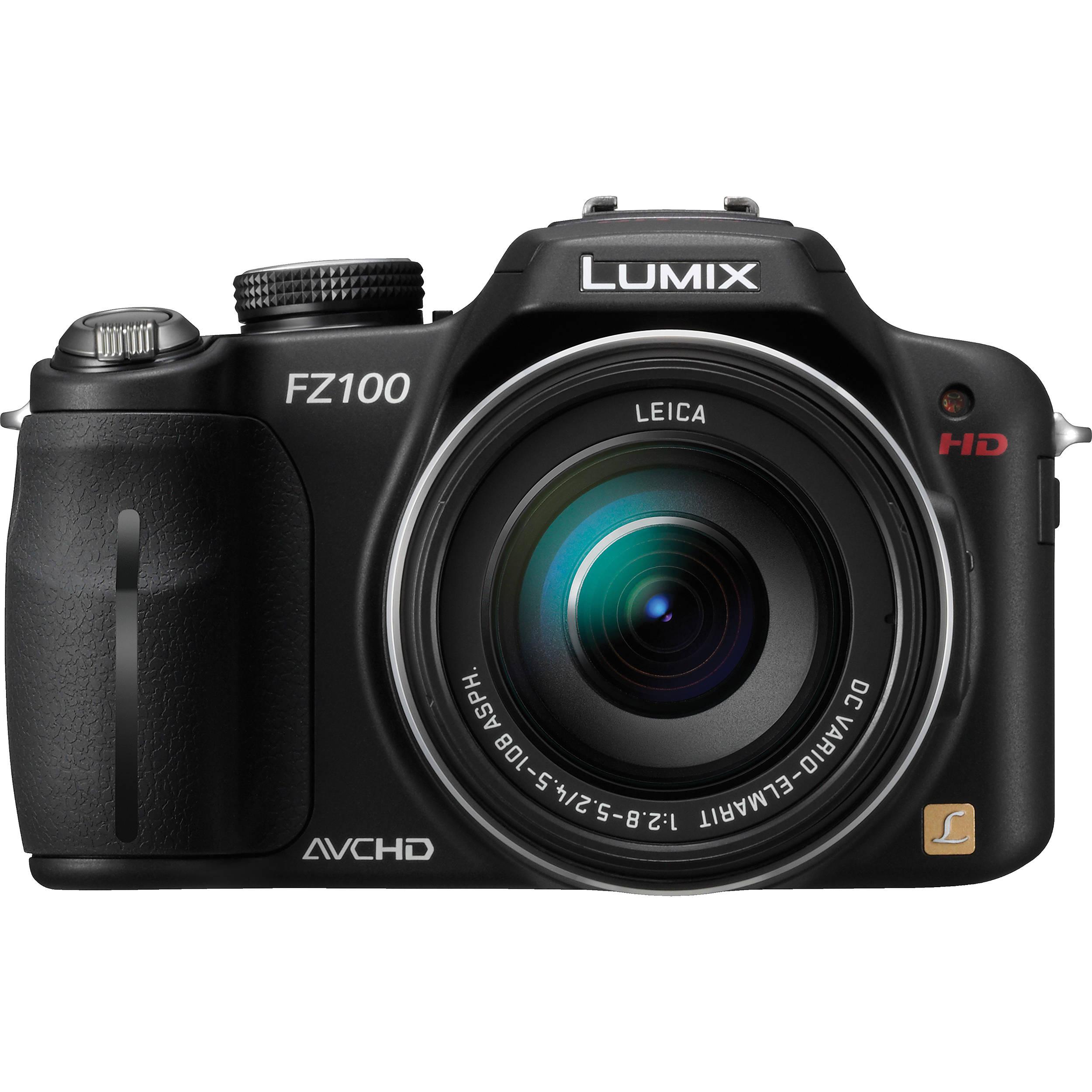 panasonic lumix dmc fz100 digital camera dmc fz100k b h photo rh bhphotovideo com