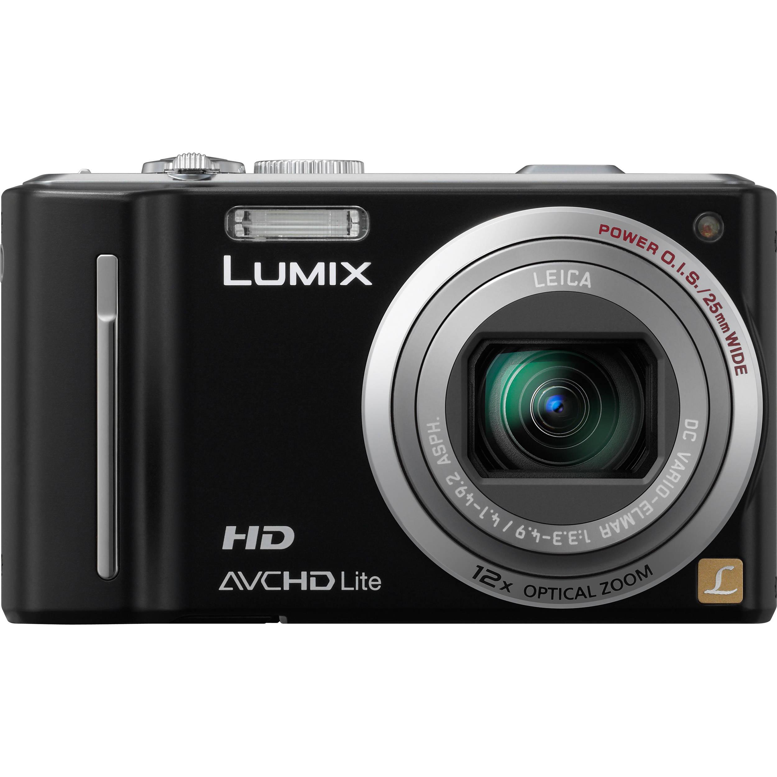 panasonic lumix dmc zs7 black digital camera dmc zs7k b h rh bhphotovideo com
