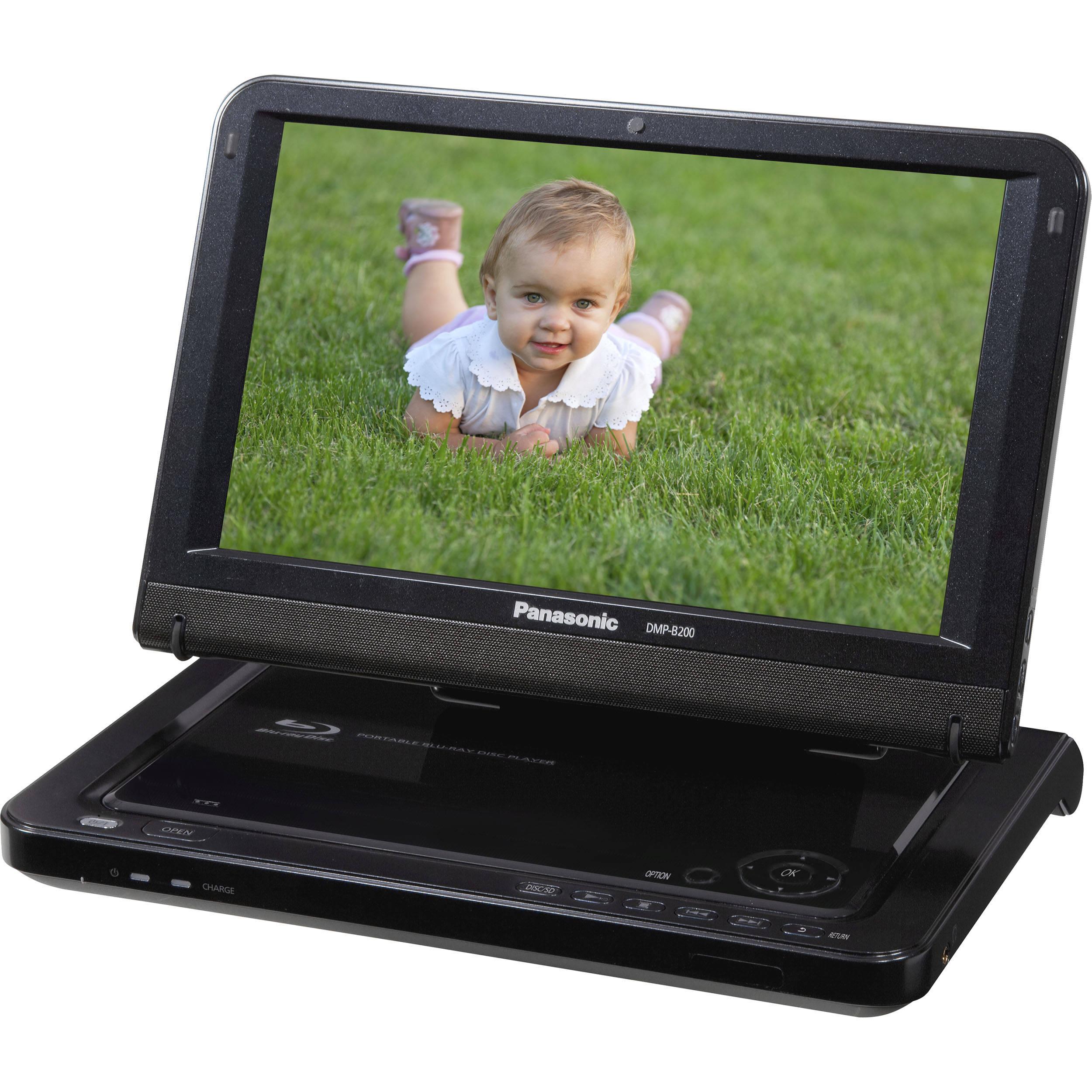 panasonic dmp b200 portable blu ray disc player dmp b200 b h. Black Bedroom Furniture Sets. Home Design Ideas