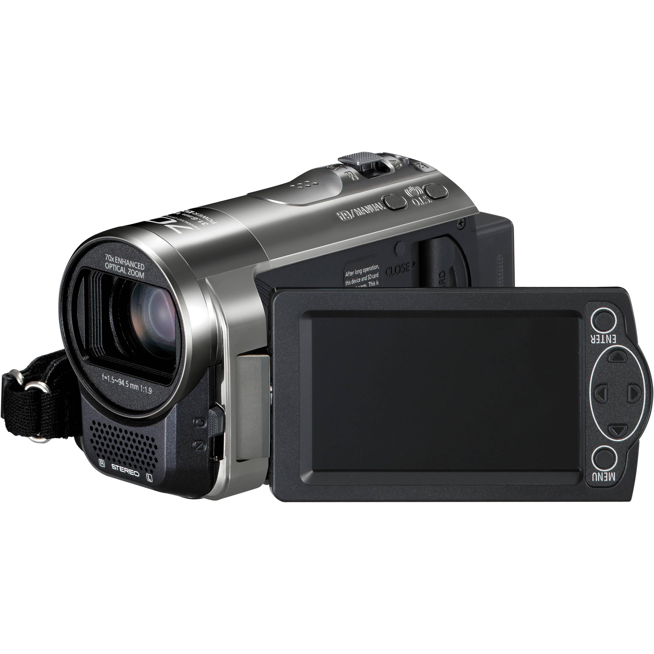 panasonic hc v10 high definition camcorder black hc v10k b h. Black Bedroom Furniture Sets. Home Design Ideas