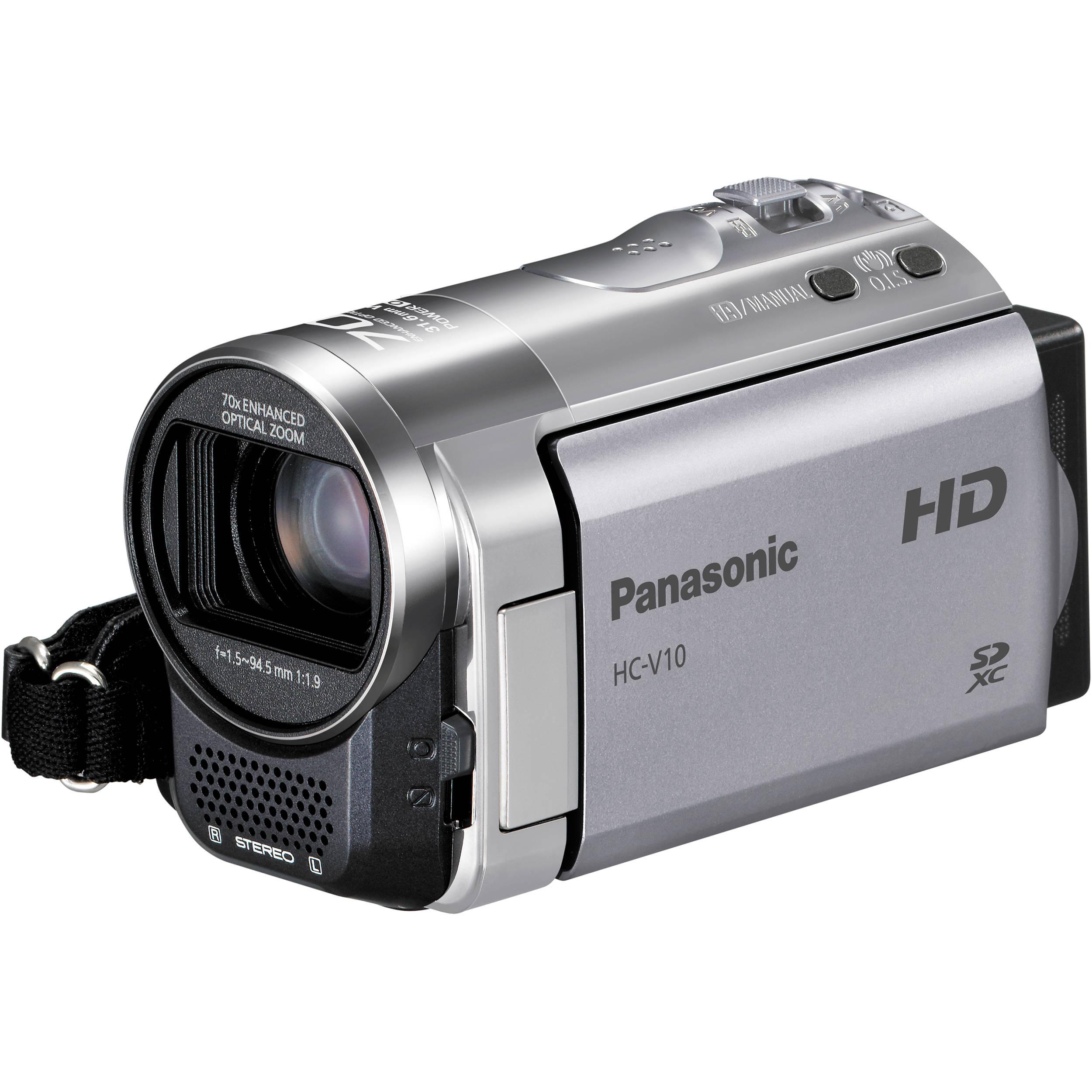 Panasonic HC-V10 High Definition Camcorder (Silver) HC-V10 ...