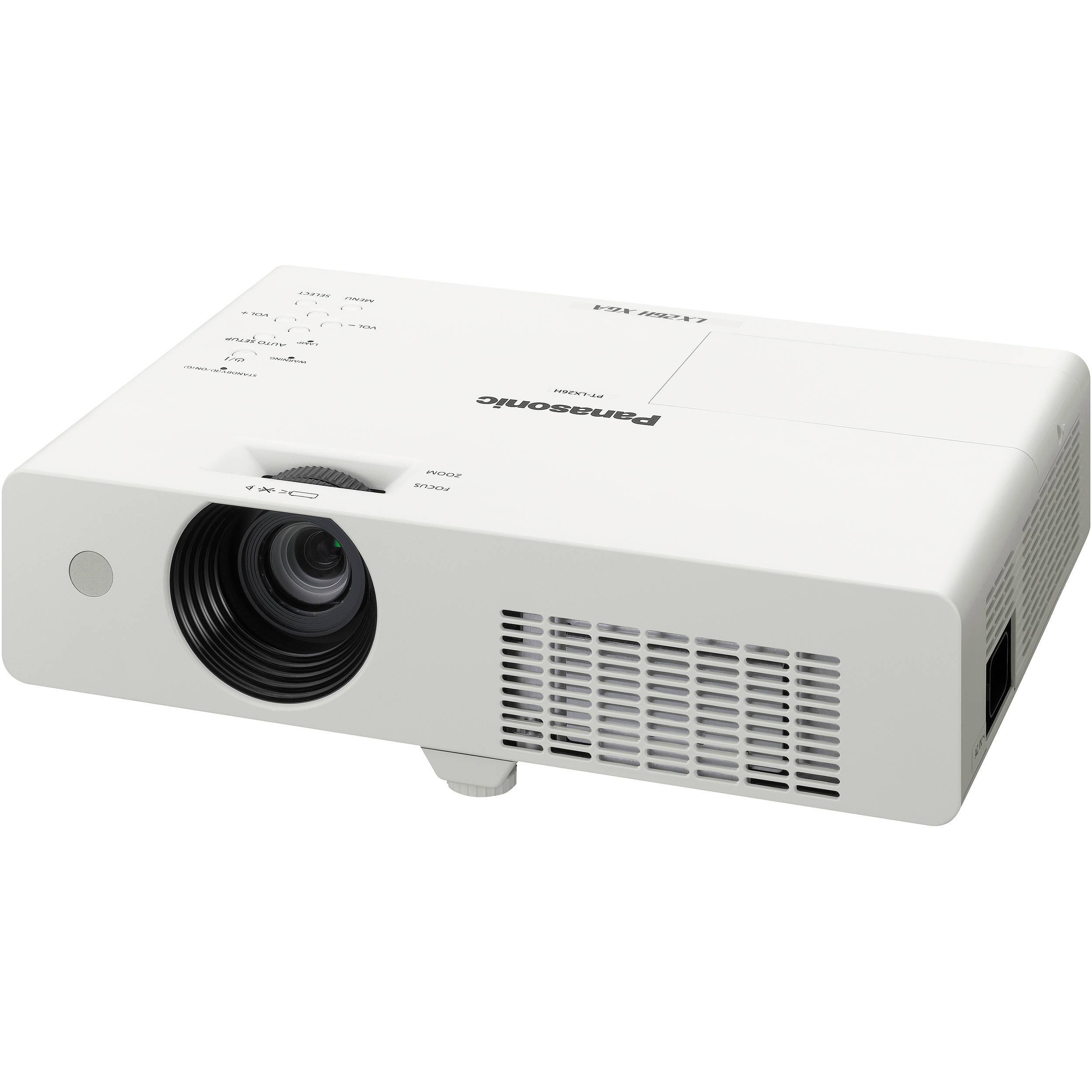 Panasonic pt lx26hu xga lcd portable projector pt lx26hu b h for Best portable digital projector