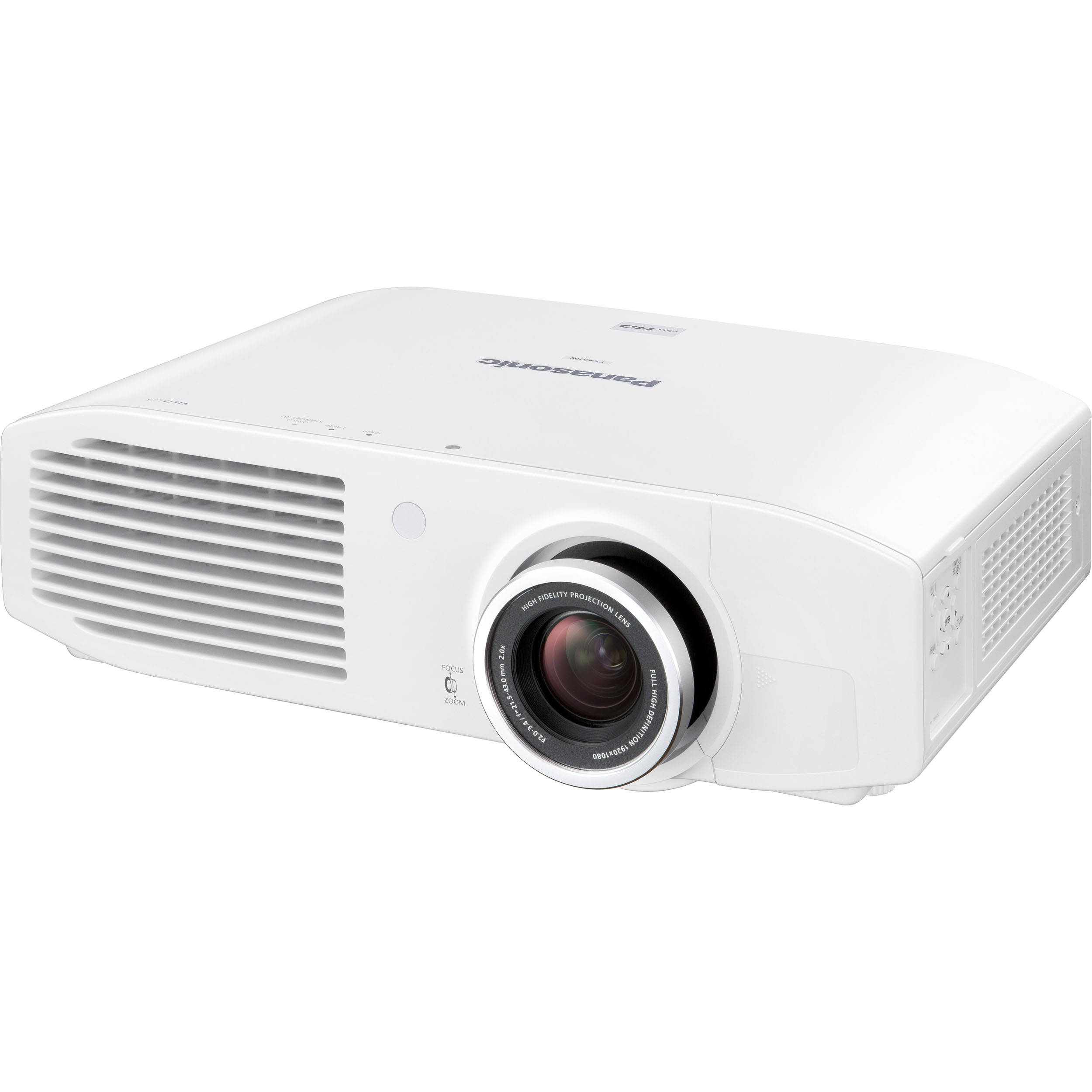 Panasonic pt ar100u full hd projector pt ar100u b h photo for Projector tv reviews