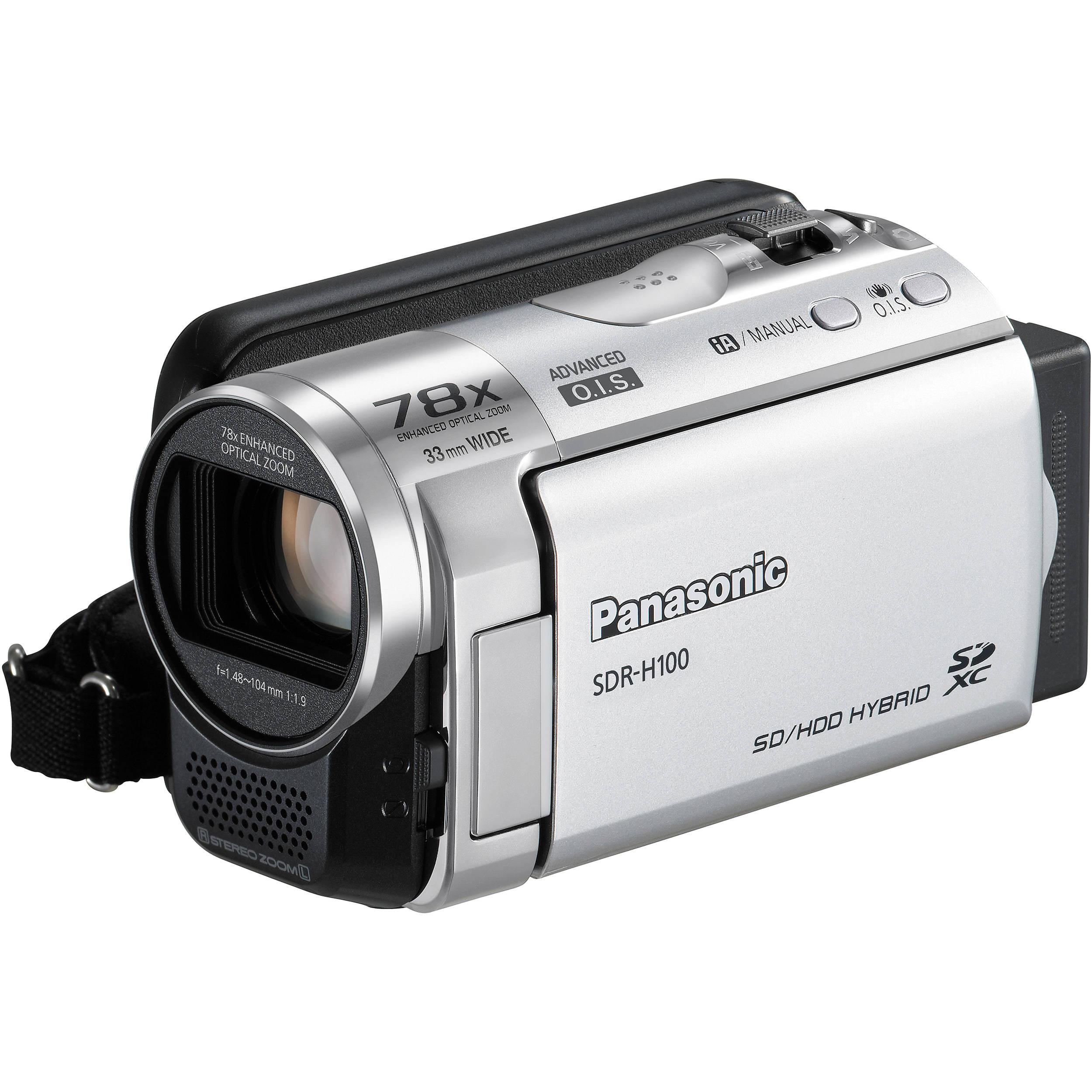 panasonic sdr h100 camcorder silver sdr h100s b h photo video rh bhphotovideo com Panasonic SDR- H60P PC Microphones Microphones Panasonic SDR -H60