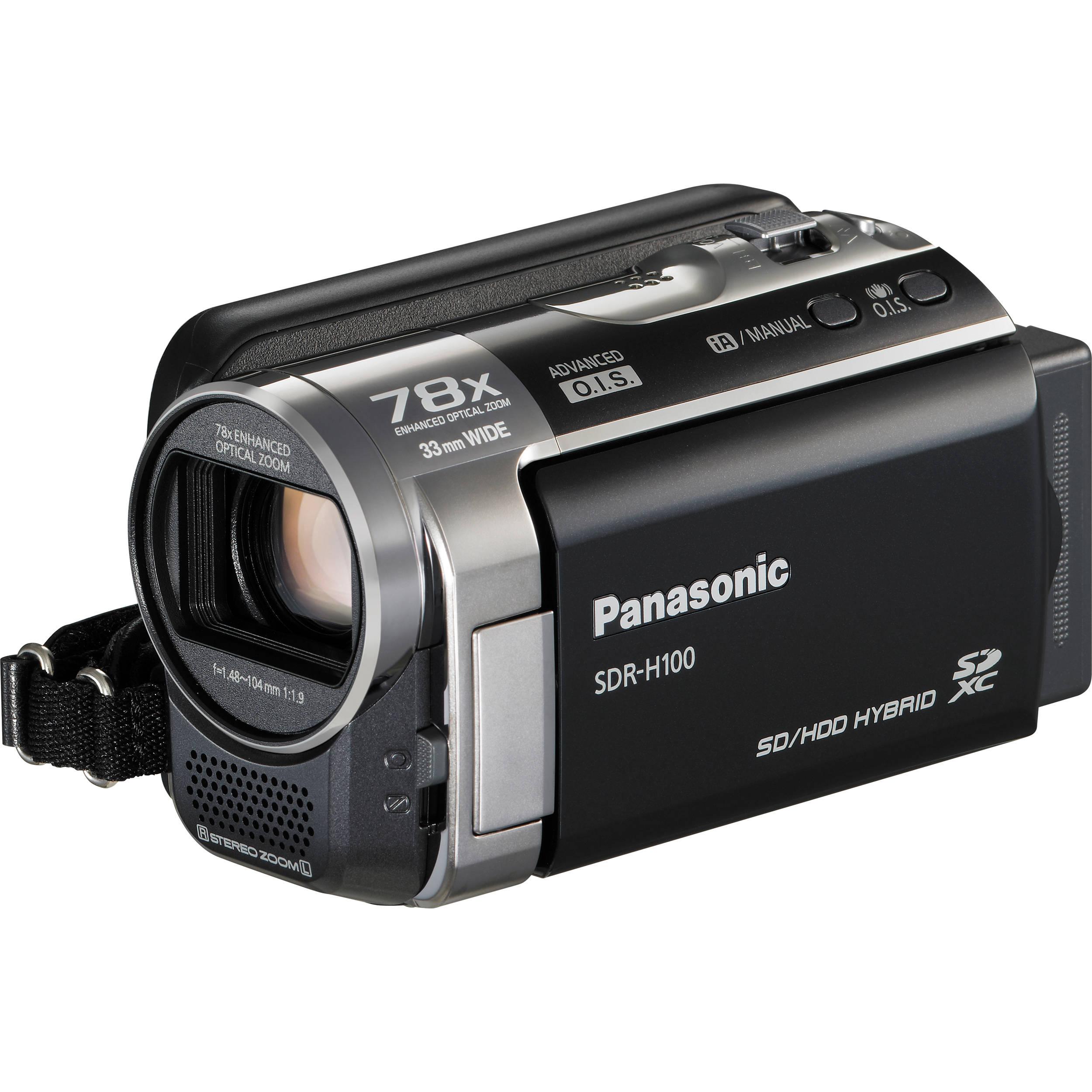 Panasonic SDR-H100 Camcorder (Black) SDR-H100K B&H Photo Video