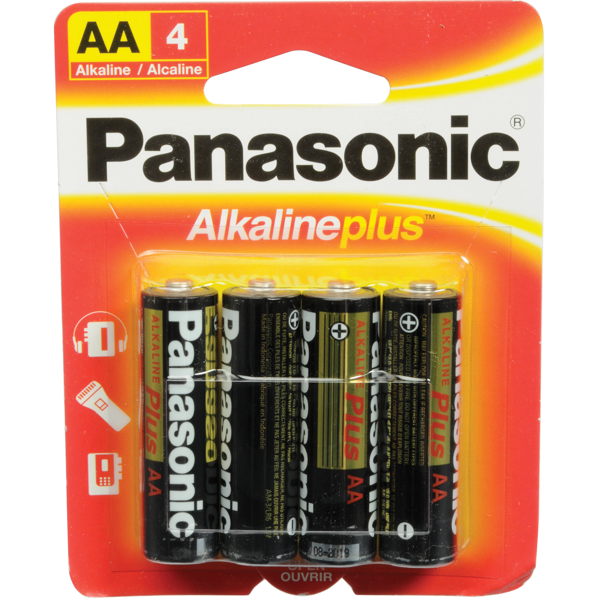 Panasonic AA Alkaline Plus Batteries 15V