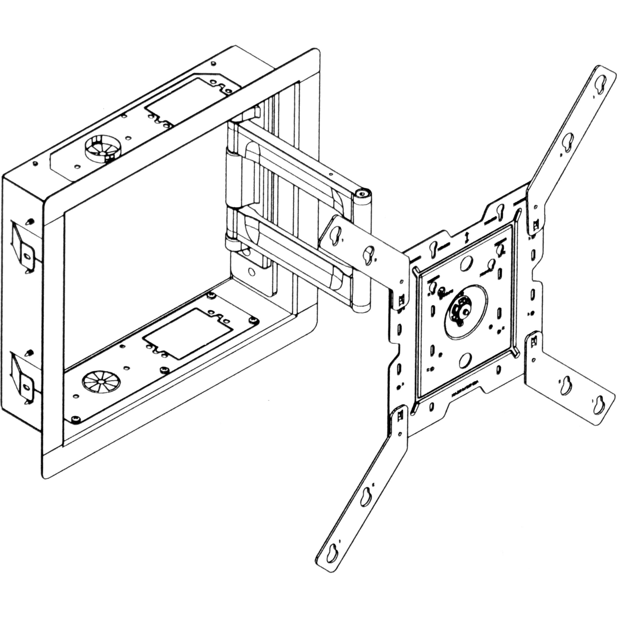 peerless av ib40 w in wall box for lcd screens white ib40 w Stereo Amplifier Wiring Diagram peerless av ib40 w in wall box for lcd screens white