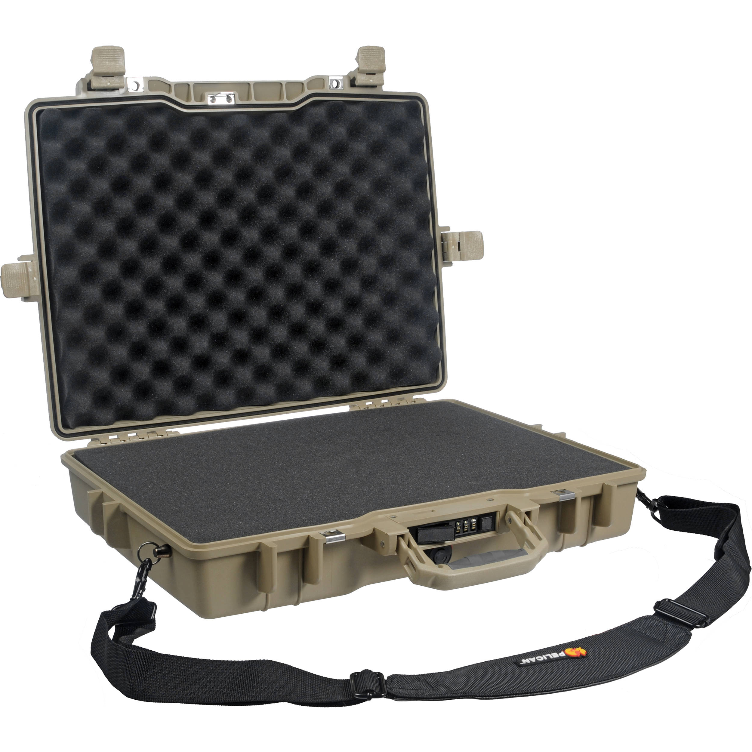 Pelican 1495 Laptop Computer Case with Foam (Desert Tan)