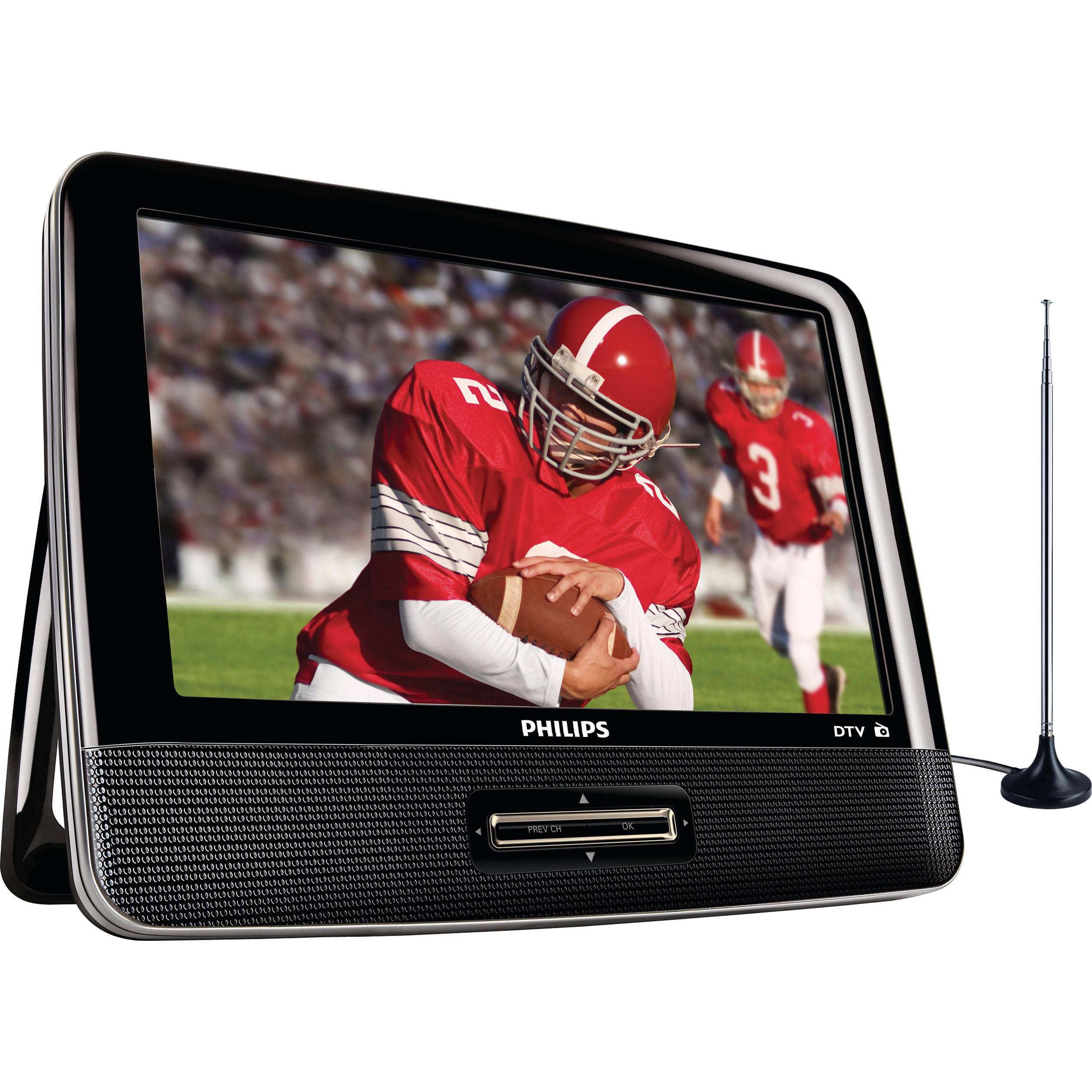philips 9 portable lcd digital tv with fm tuner pt902 37. Black Bedroom Furniture Sets. Home Design Ideas