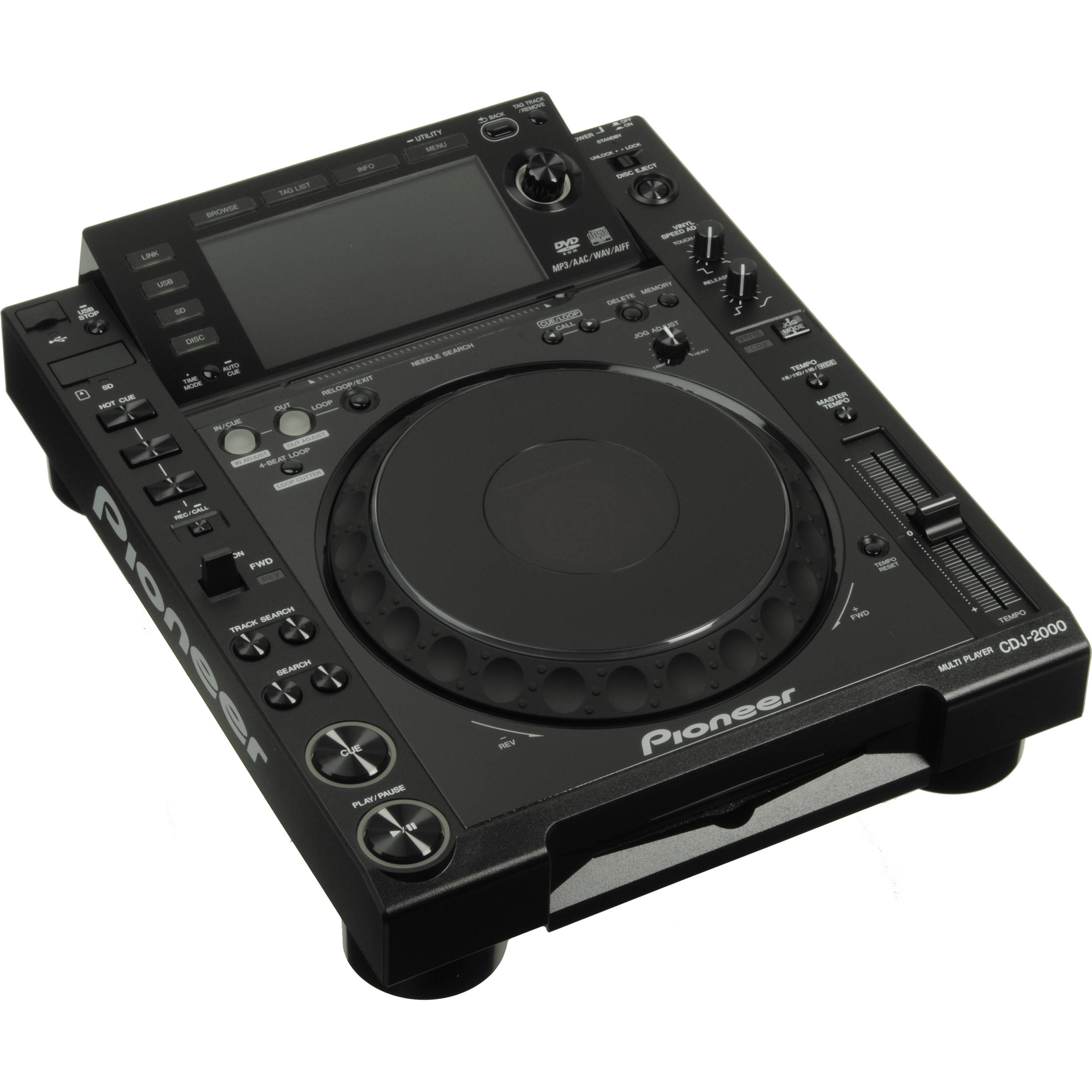 pioneer cdj 2000 professional multimedia and cd player cdj 2000. Black Bedroom Furniture Sets. Home Design Ideas