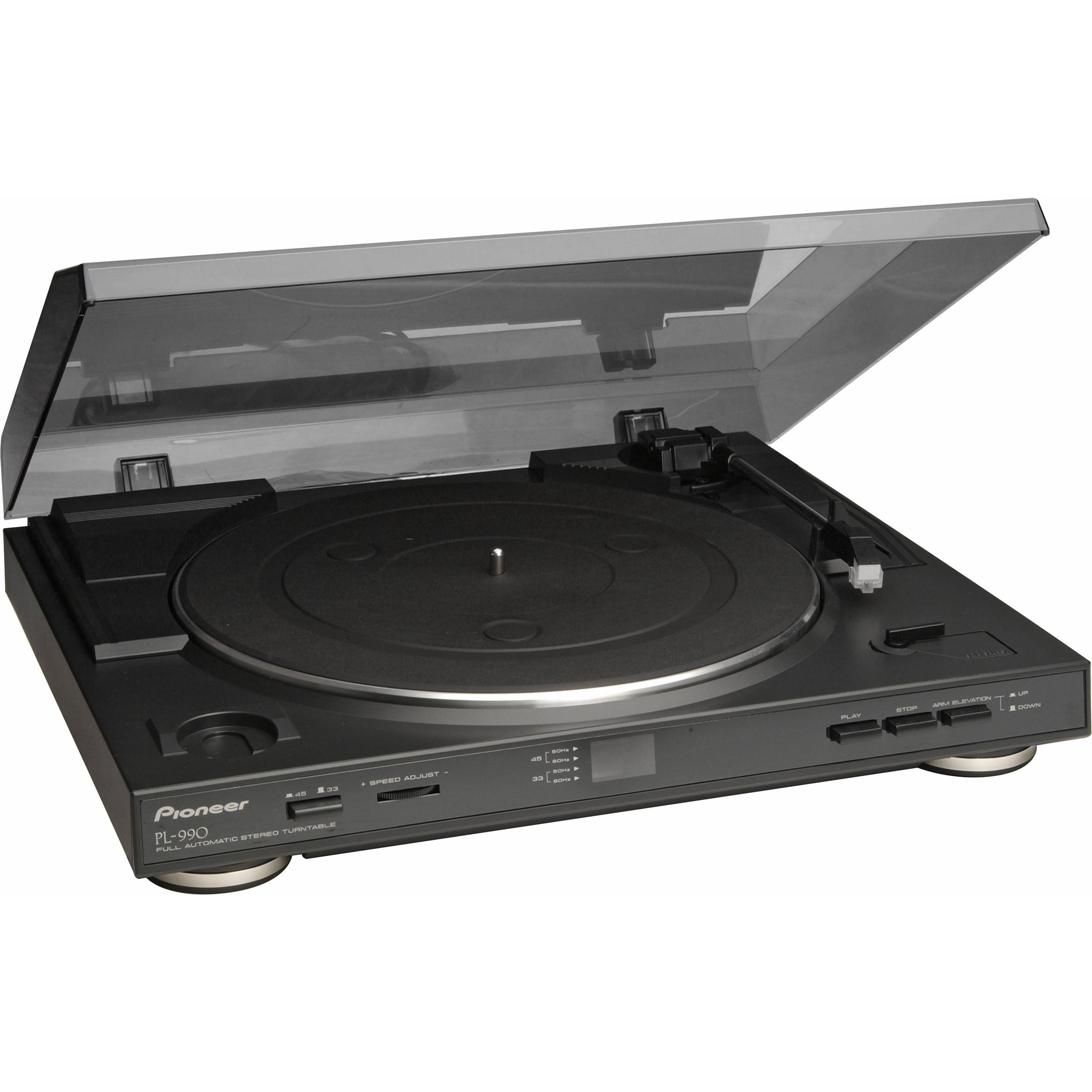 pioneer pl 990 fully automatic belt driven turntable pl 990 b h. Black Bedroom Furniture Sets. Home Design Ideas