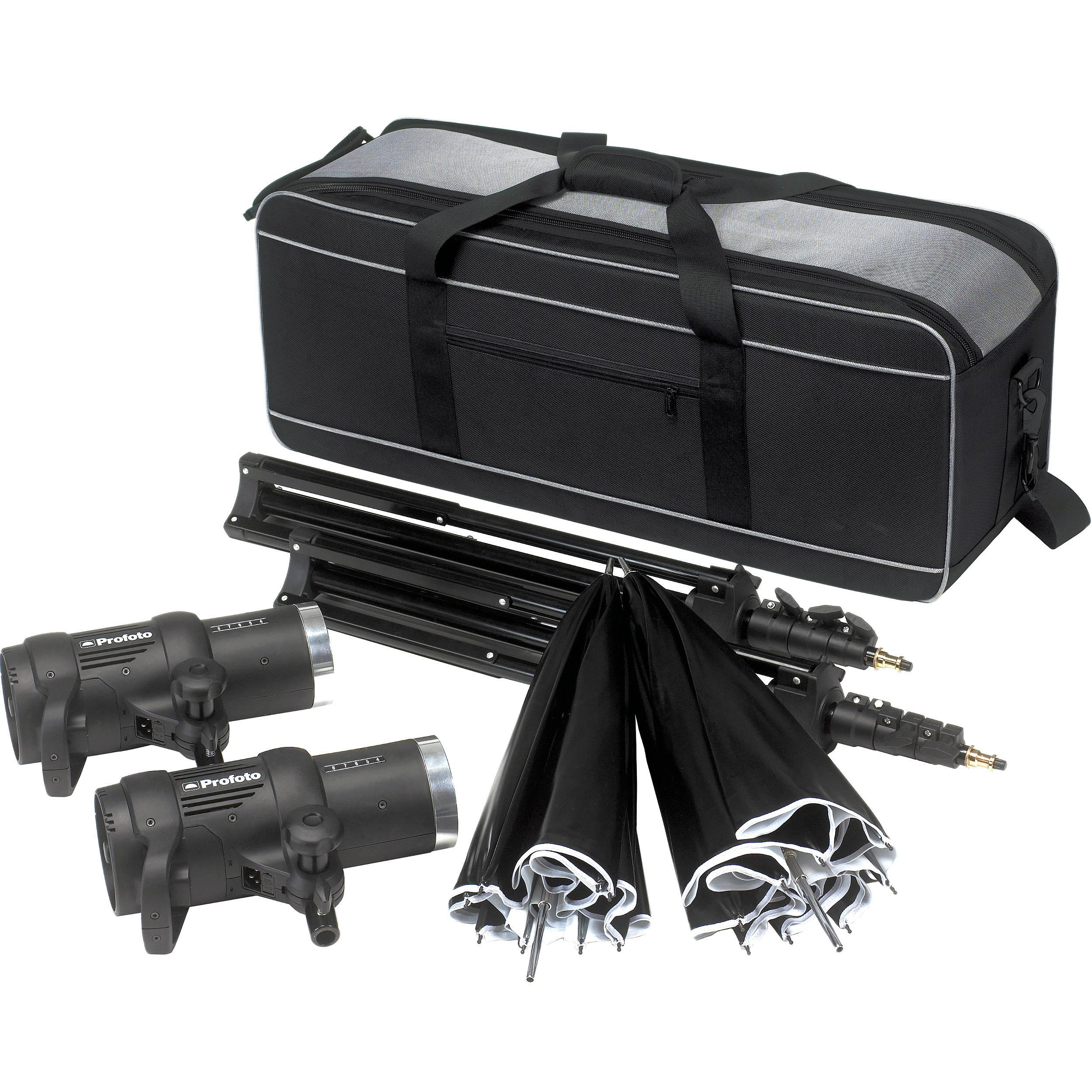 Profoto Studio Lighting Kit: Profoto D1 Air 250Ws 2-Monolight Studio Kit W/o Remote 901055