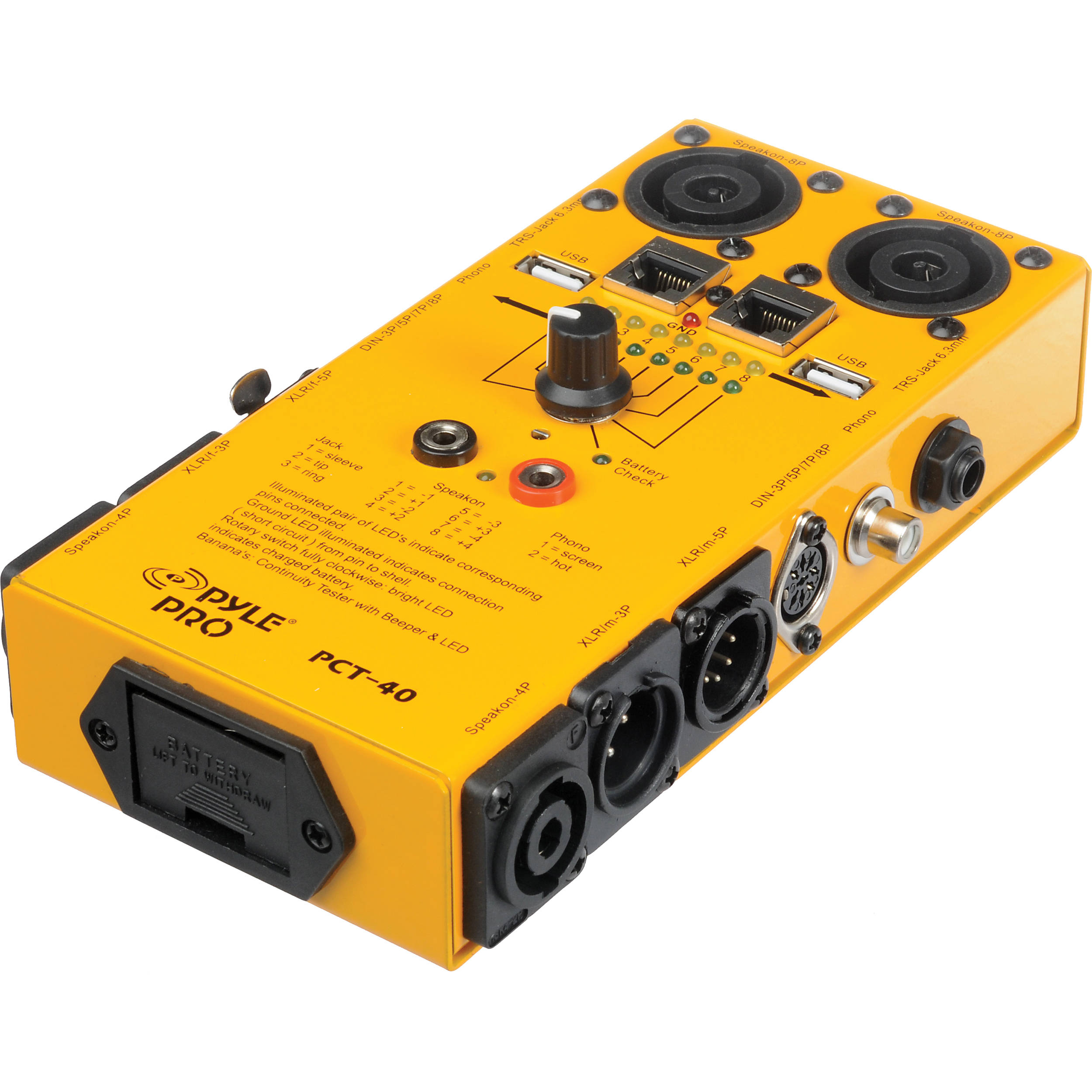 Audio Cord Tester : Pyle pro pct in audio cable tester b h photo