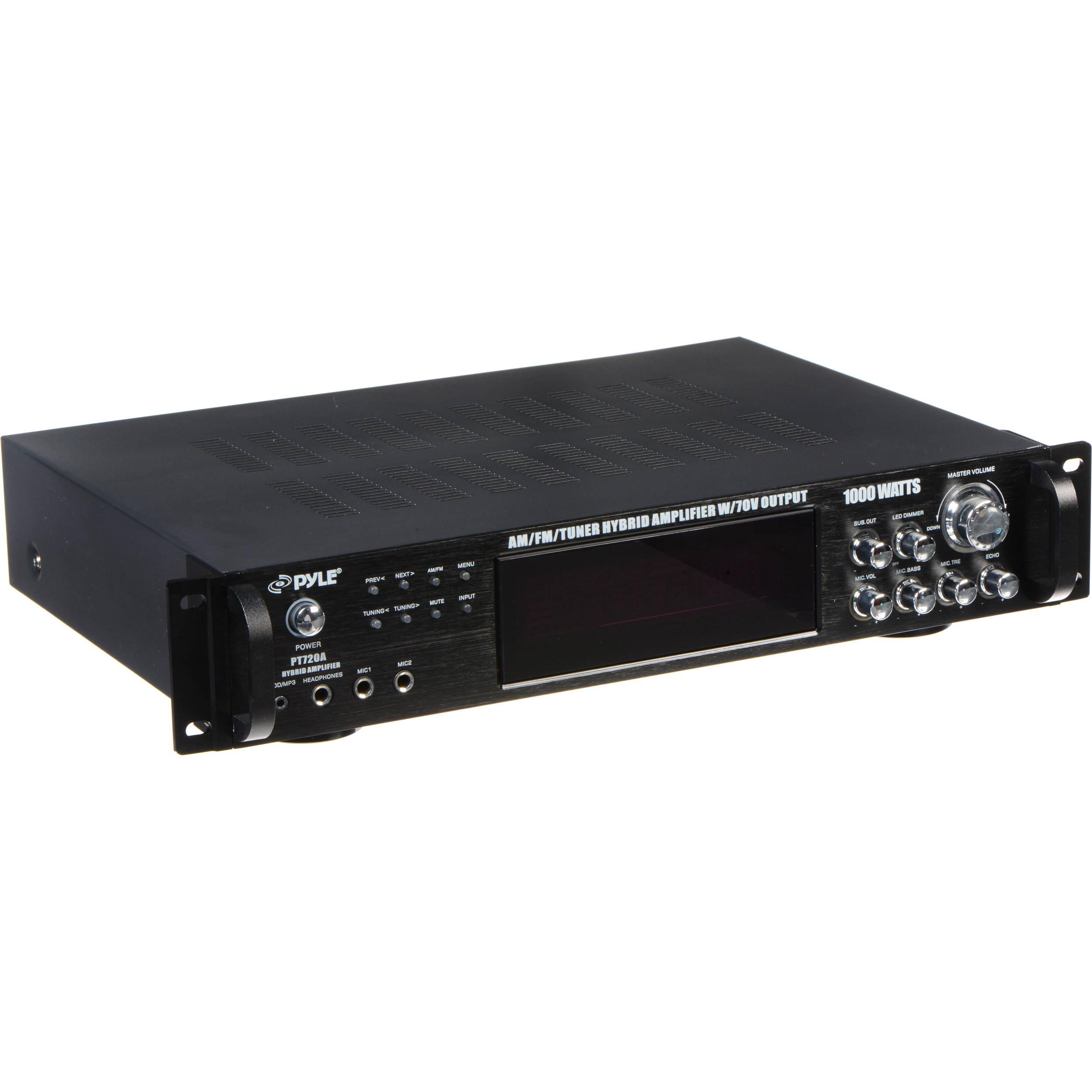 Pyle Pro Pt720a 1000w Peak Hybrid Amplifier With Am Fm Tuner