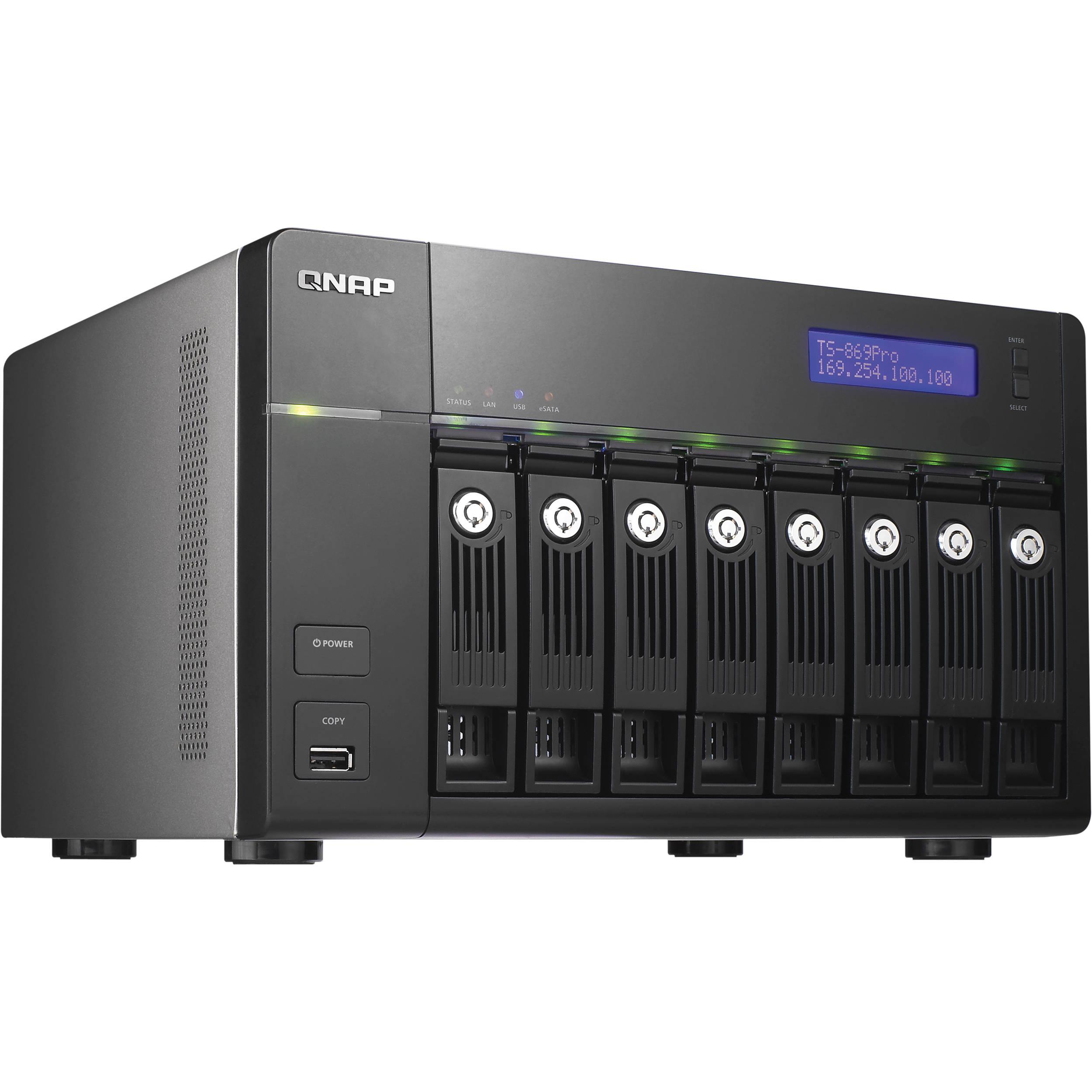 QNAP TS-869 Pro Turbo NAS Server TS-869-PRO-US B&H Photo Video