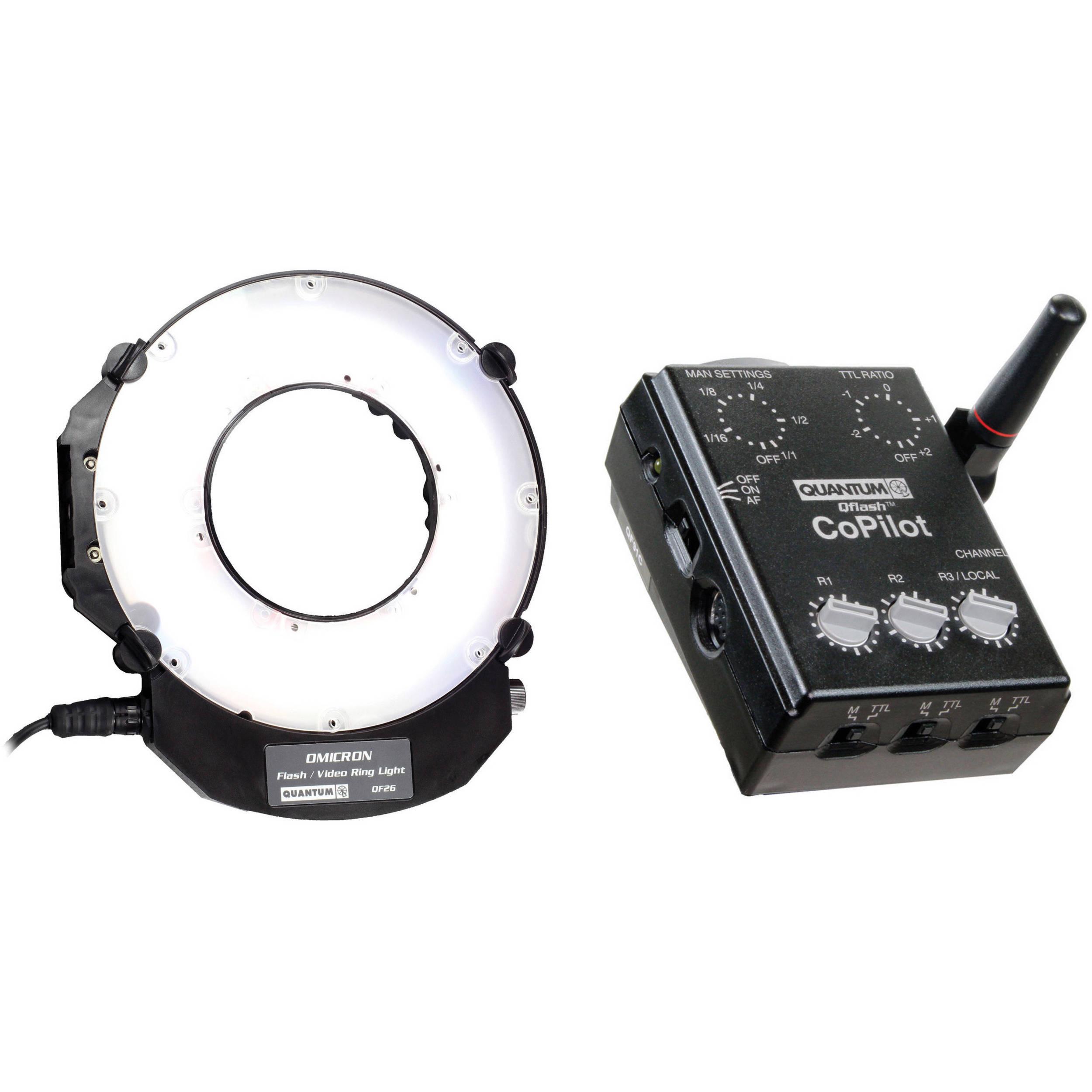 Quantum Studio Lighting: Quantum Instruments Omicron OM3 TTL Flash And Video Light B&H